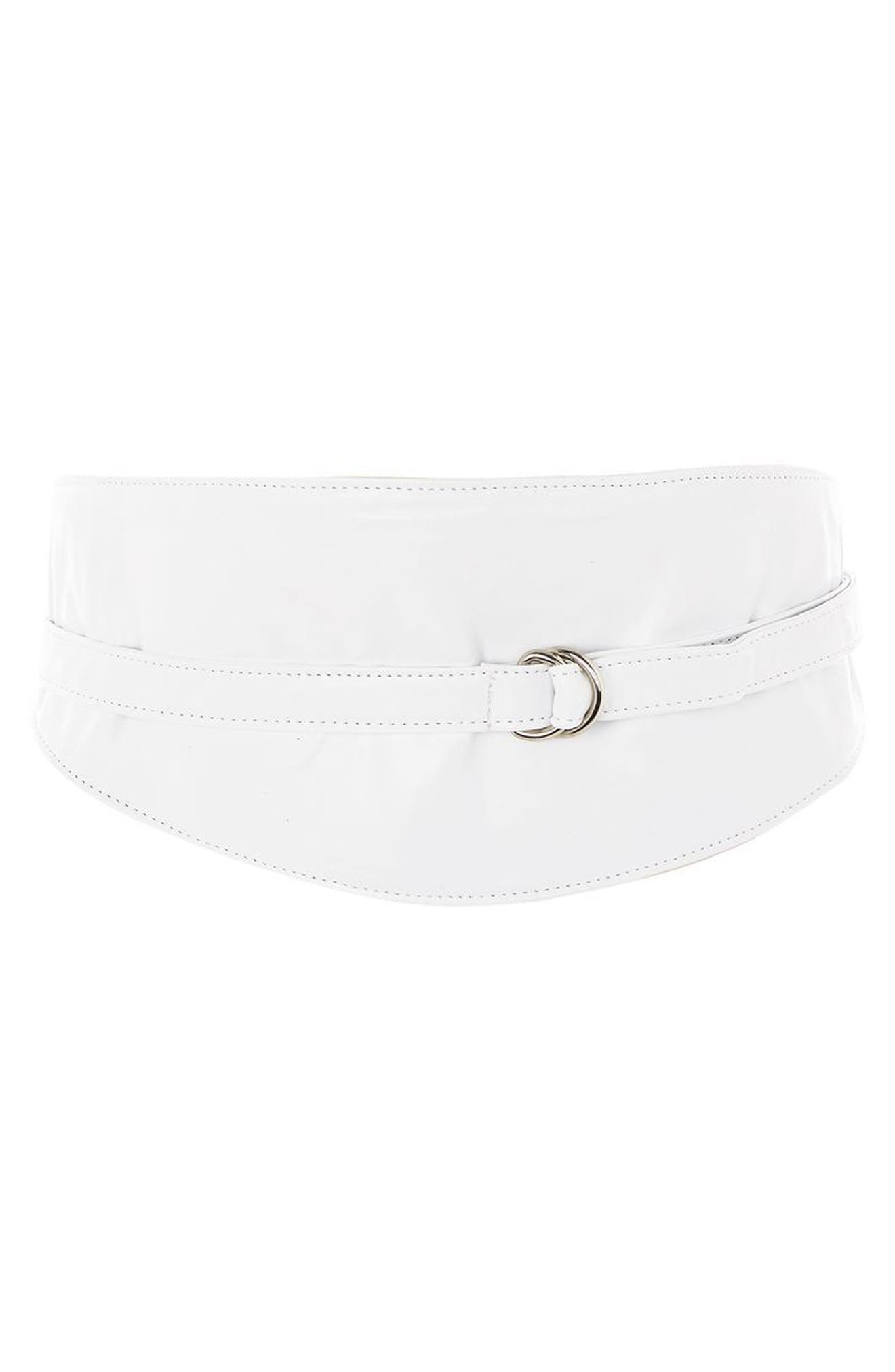 Main Image - Topshop Faux Leather Obi Wrap Belt