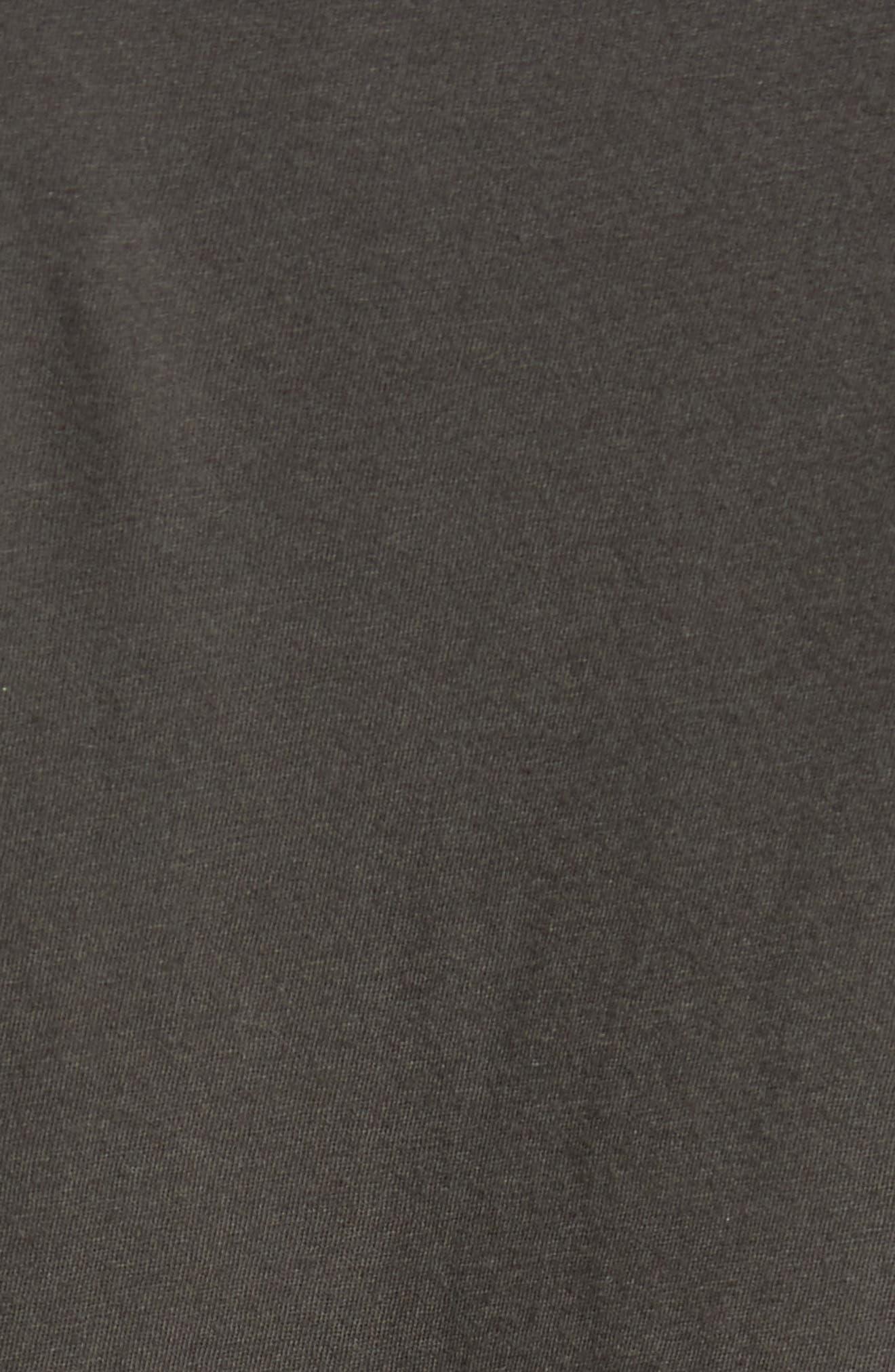 Fade Stripe Ringer T-Shirt,                             Alternate thumbnail 5, color,                             Pirate Black