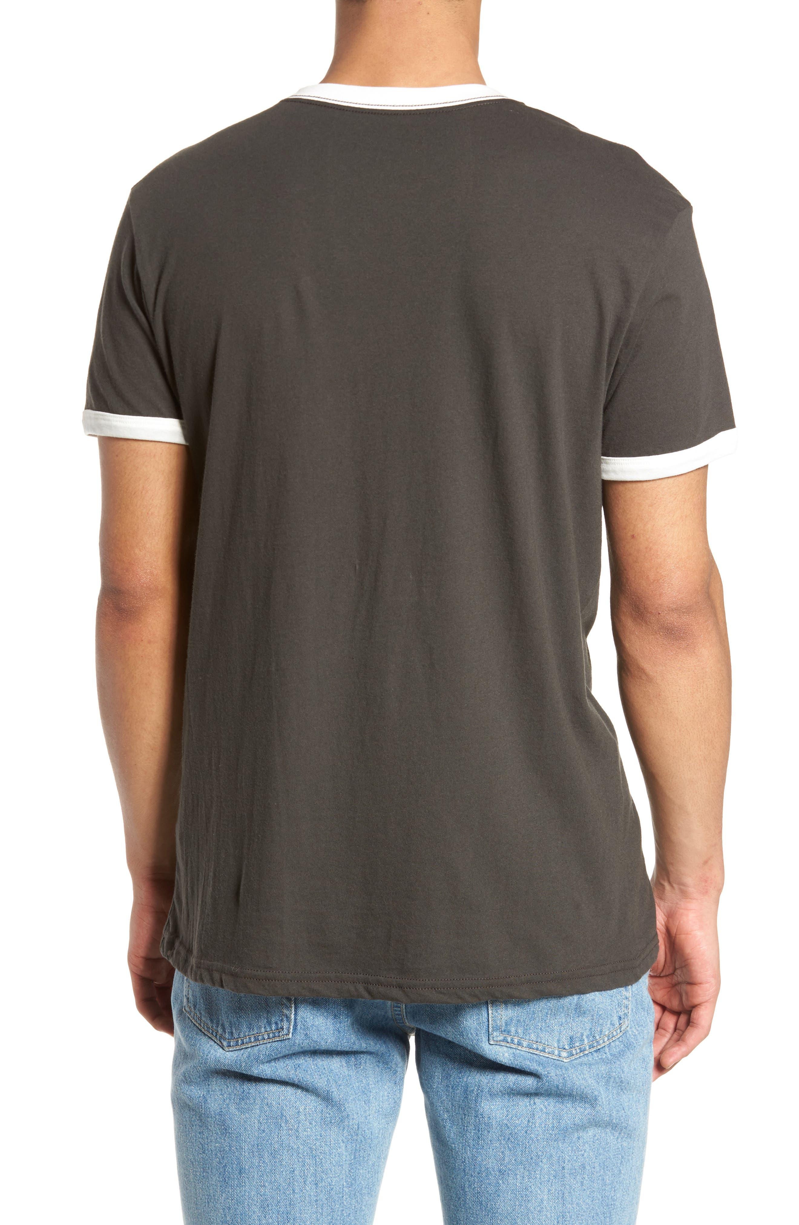 Fade Stripe Ringer T-Shirt,                             Alternate thumbnail 2, color,                             Pirate Black