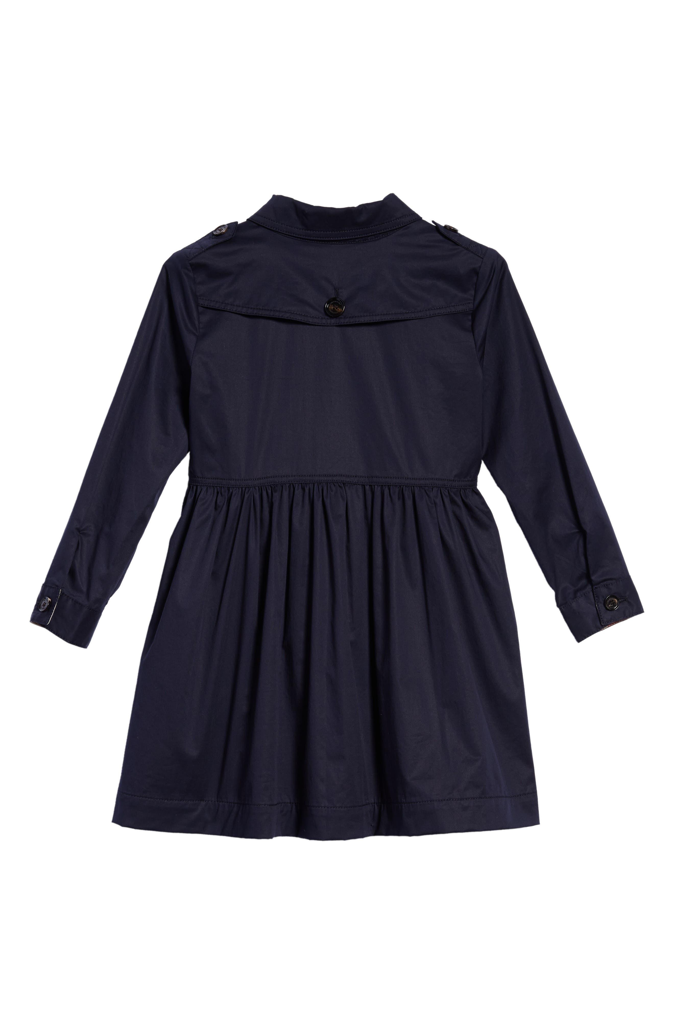 Lillyana Trench Dress,                             Alternate thumbnail 2, color,                             Midnight Blue