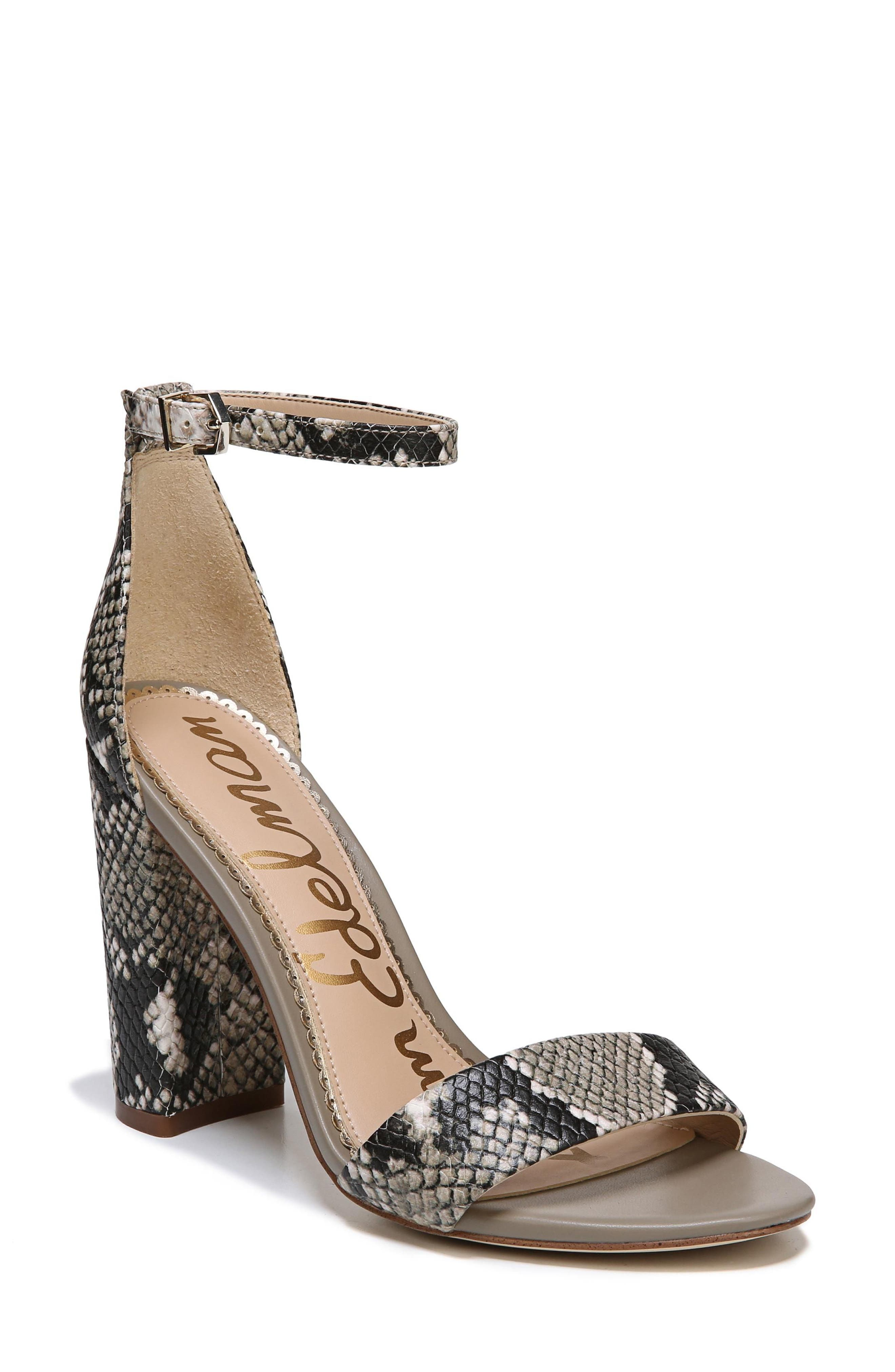 Yaro Ankle Strap Sandal,                         Main,                         color, Natural Snake Print Leather