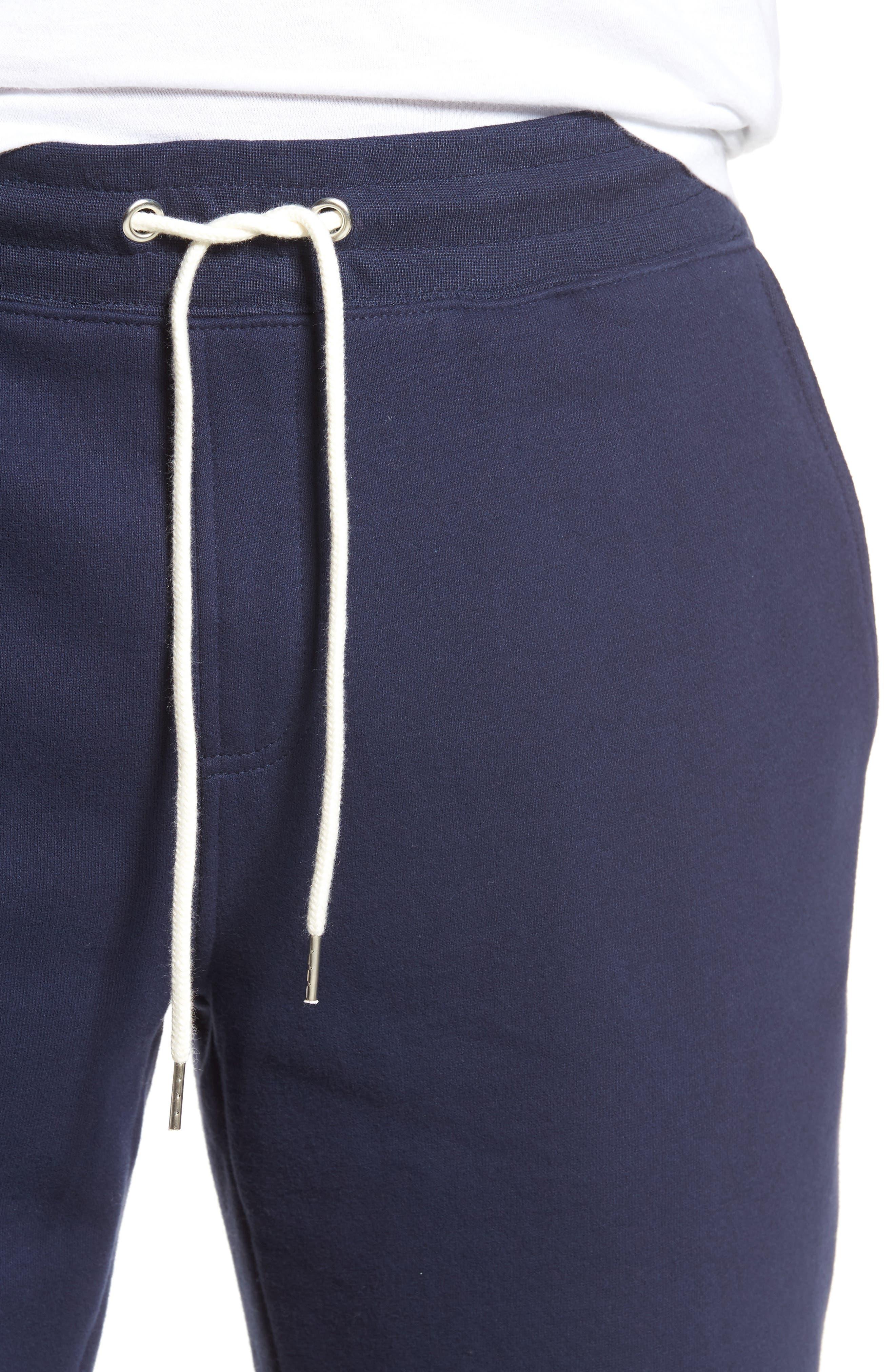 Fleece Shorts,                             Alternate thumbnail 4, color,                             Navy Peacoat