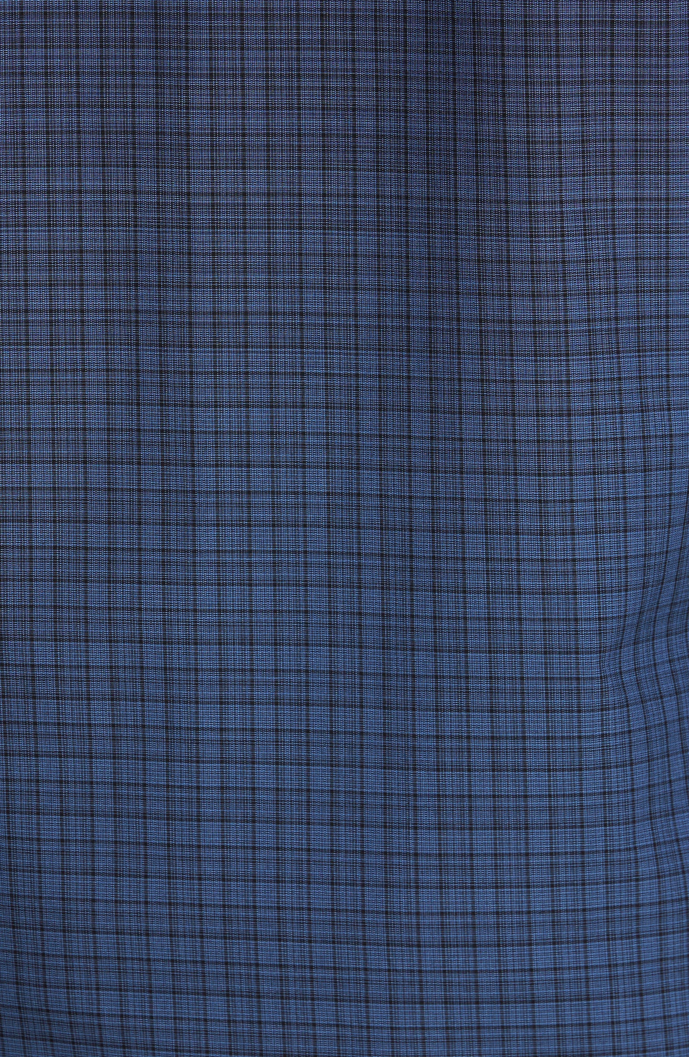 Wein Slim Fit Check Sport Shirt,                             Alternate thumbnail 5, color,                             Dark Blue