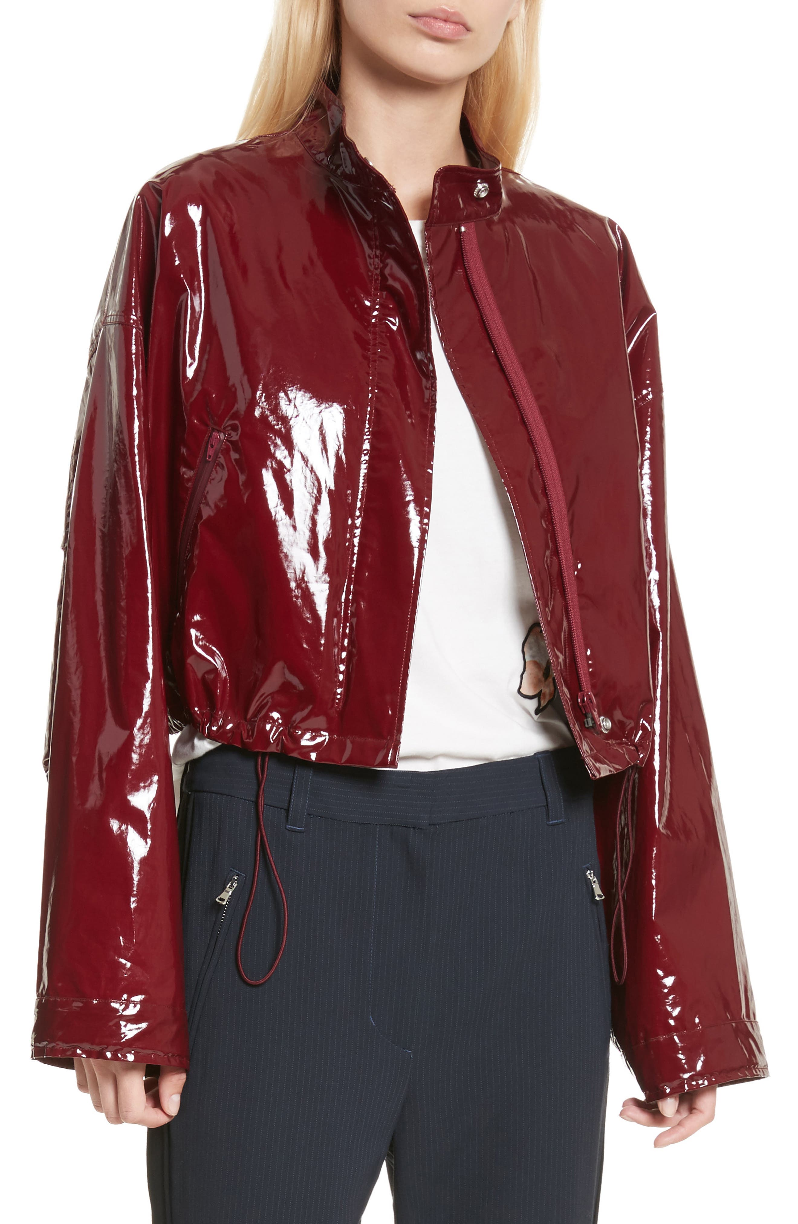 Coated Jacket,                             Main thumbnail 1, color,                             Burgundy