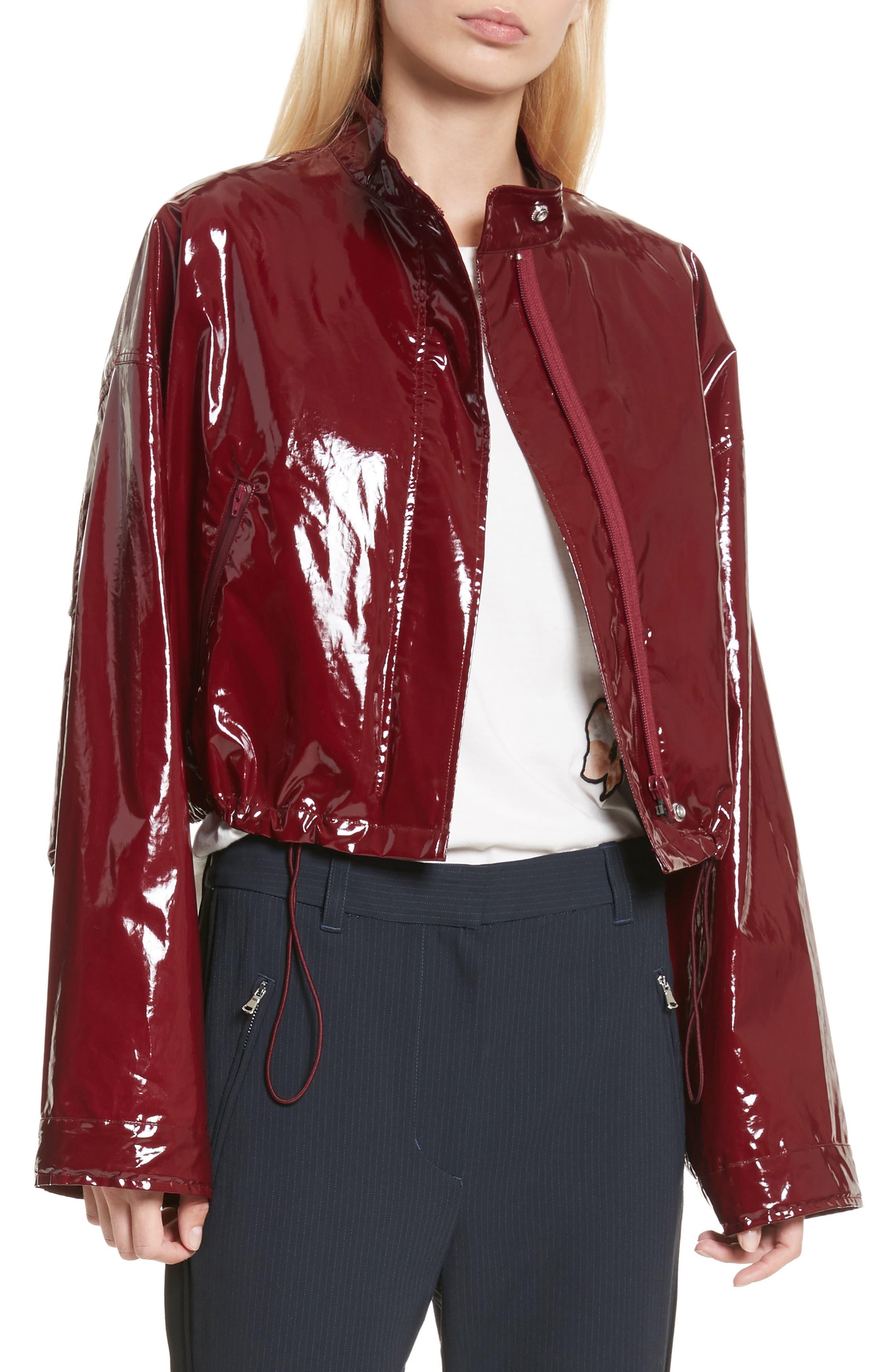 Coated Jacket,                         Main,                         color, Burgundy