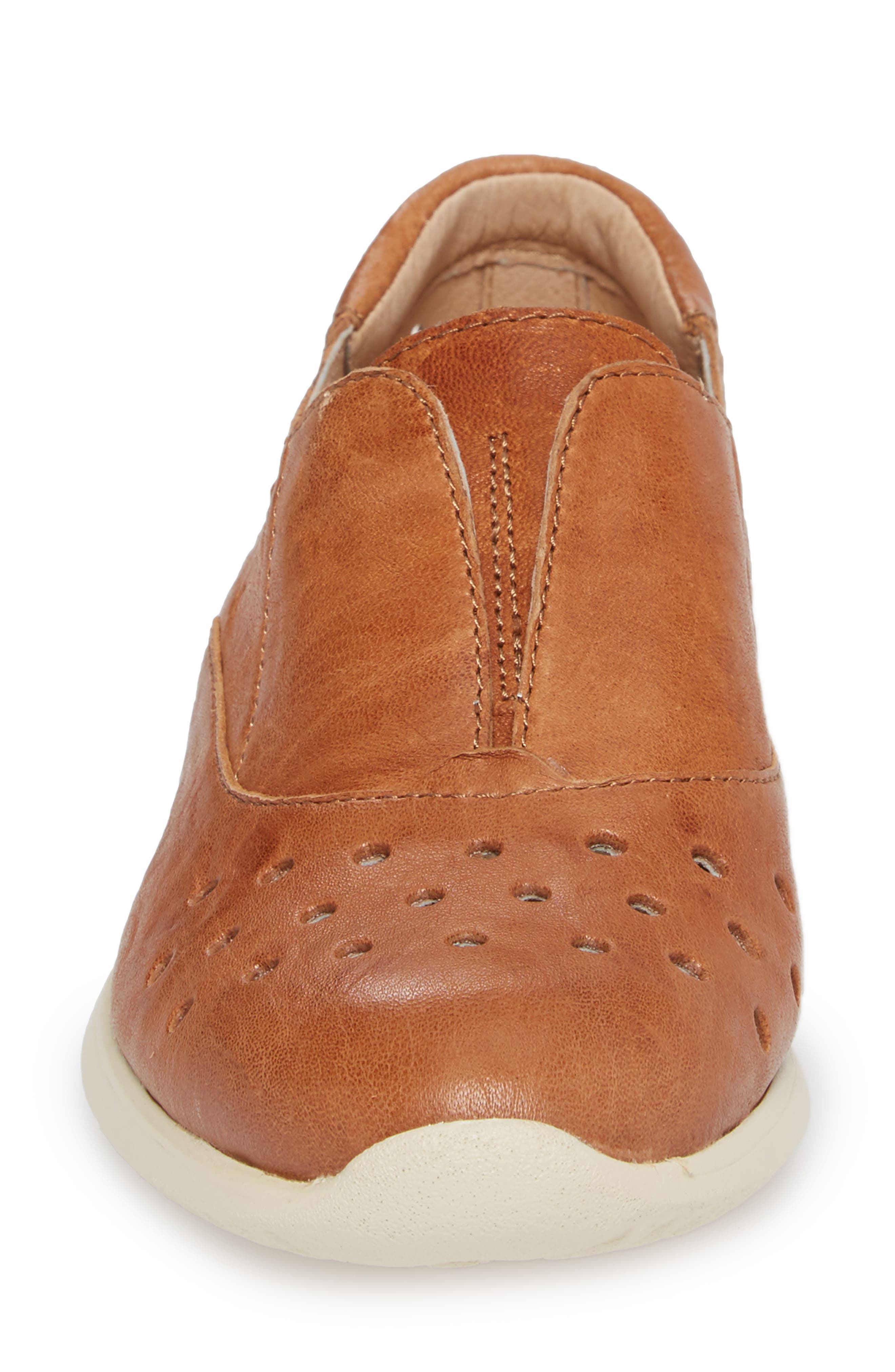 Noreen Slip-On Sneaker,                             Alternate thumbnail 4, color,                             Luggage Leather