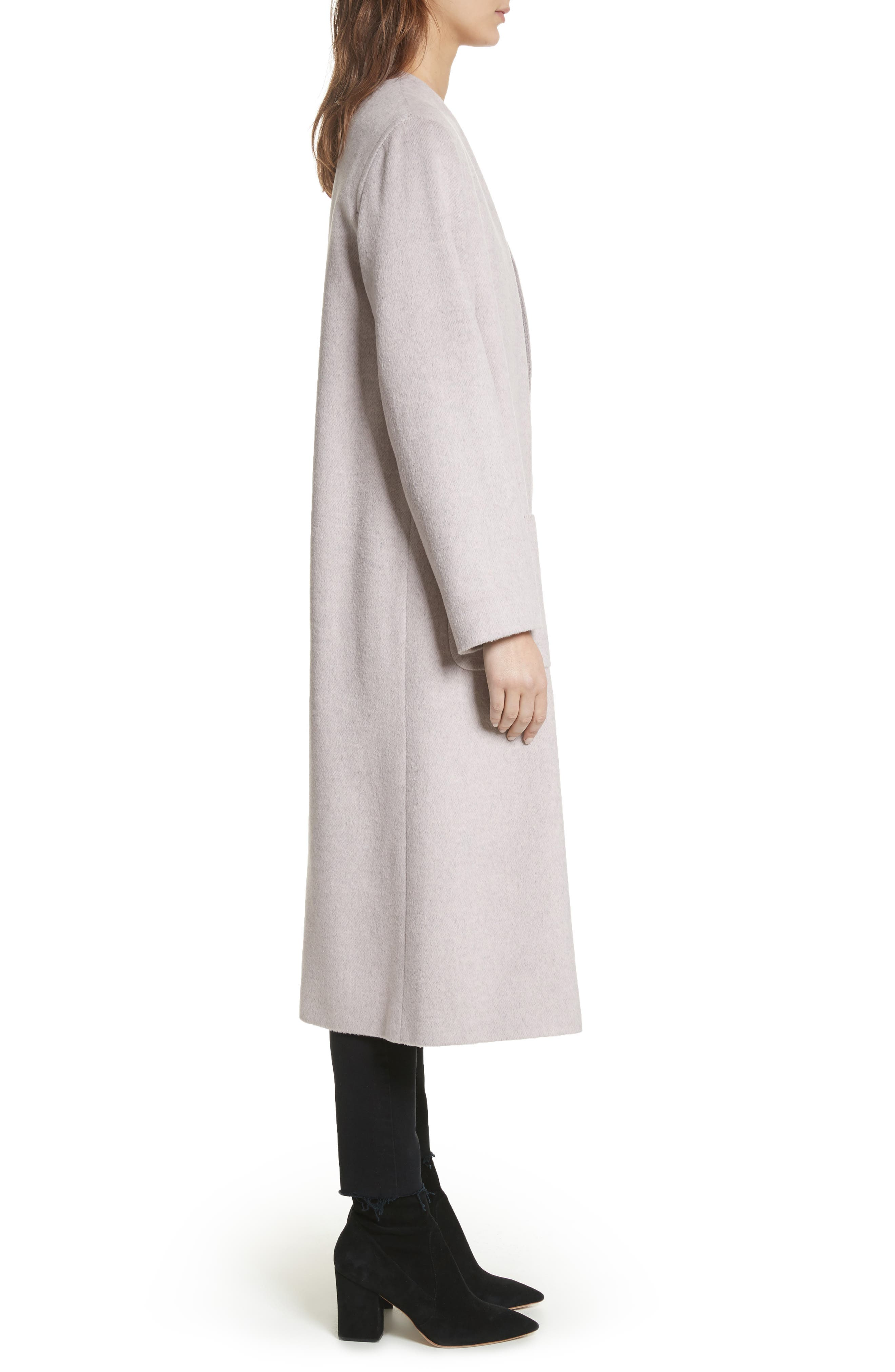 Edge to Edge Coat,                             Alternate thumbnail 3, color,                             Pale Pink