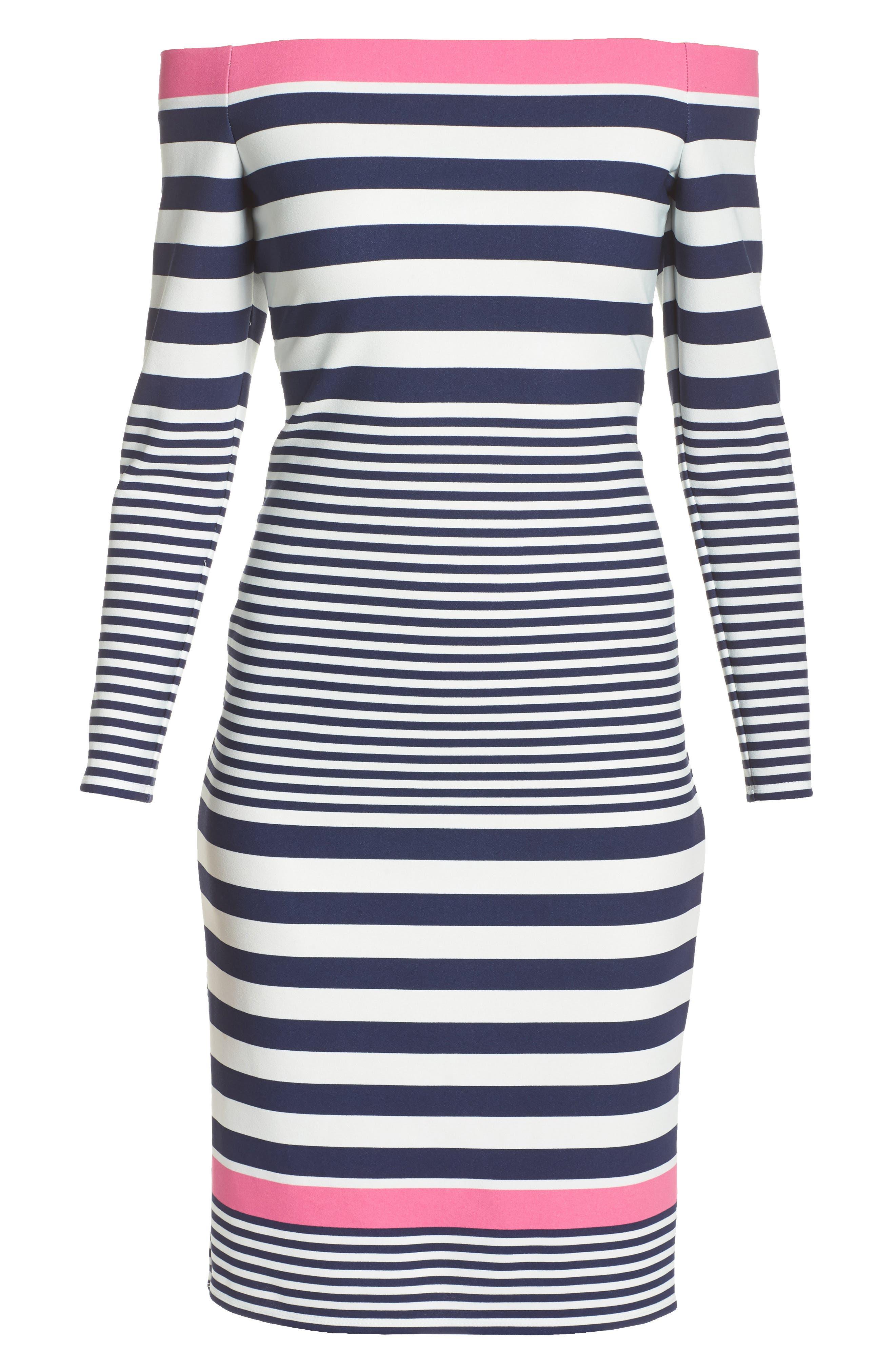 Alternate Image 6  - Eliza J Off the Shoulder Sheath Dress