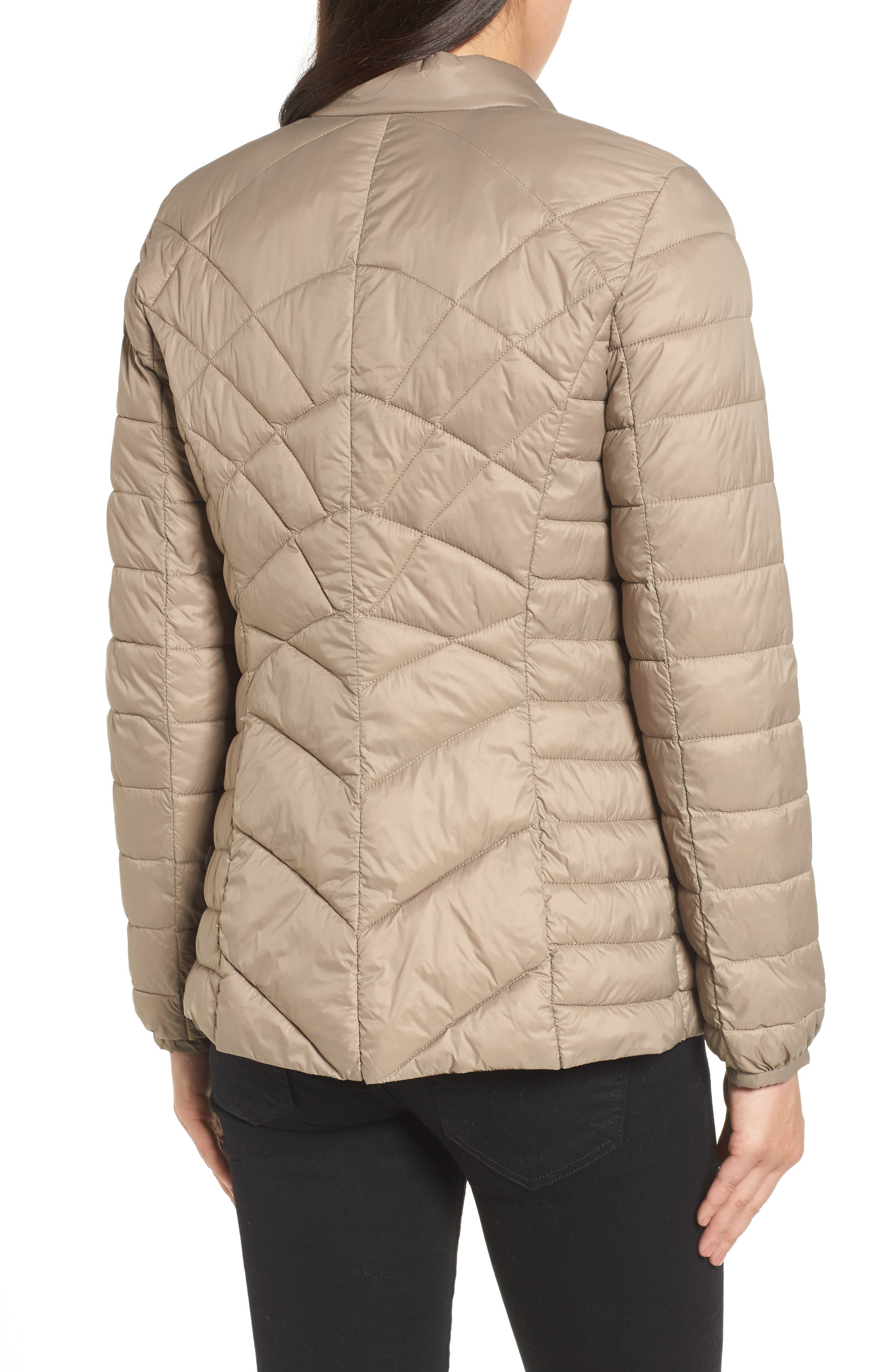 Water-Resistant Thermoplume Insulated Jacket,                             Alternate thumbnail 2, color,                             Warm Sand