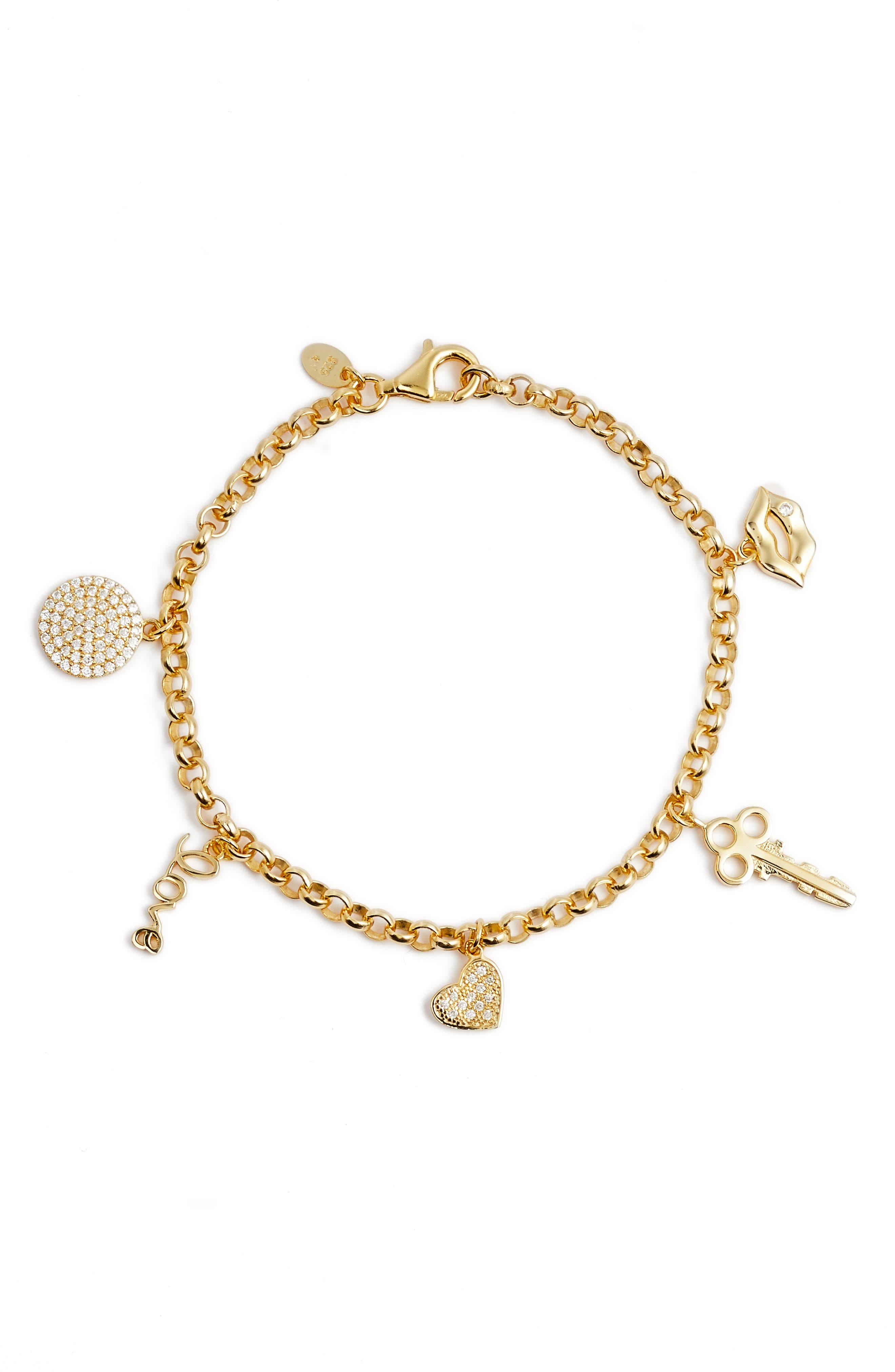 Main Image - Argento Vivo Passion Charm Bracelet
