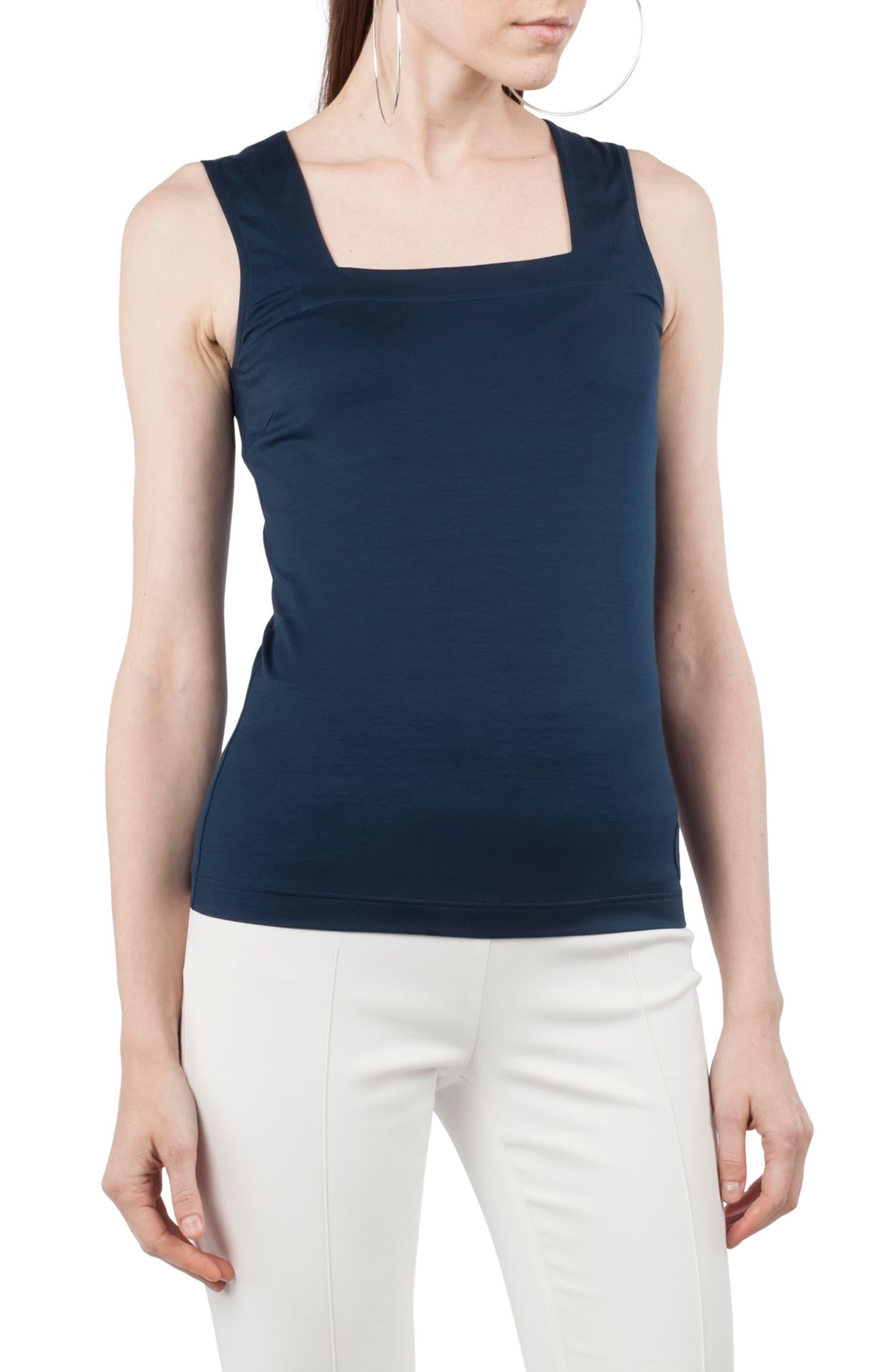 Alternate Image 1 Selected - Akris punto Square Neck Tank