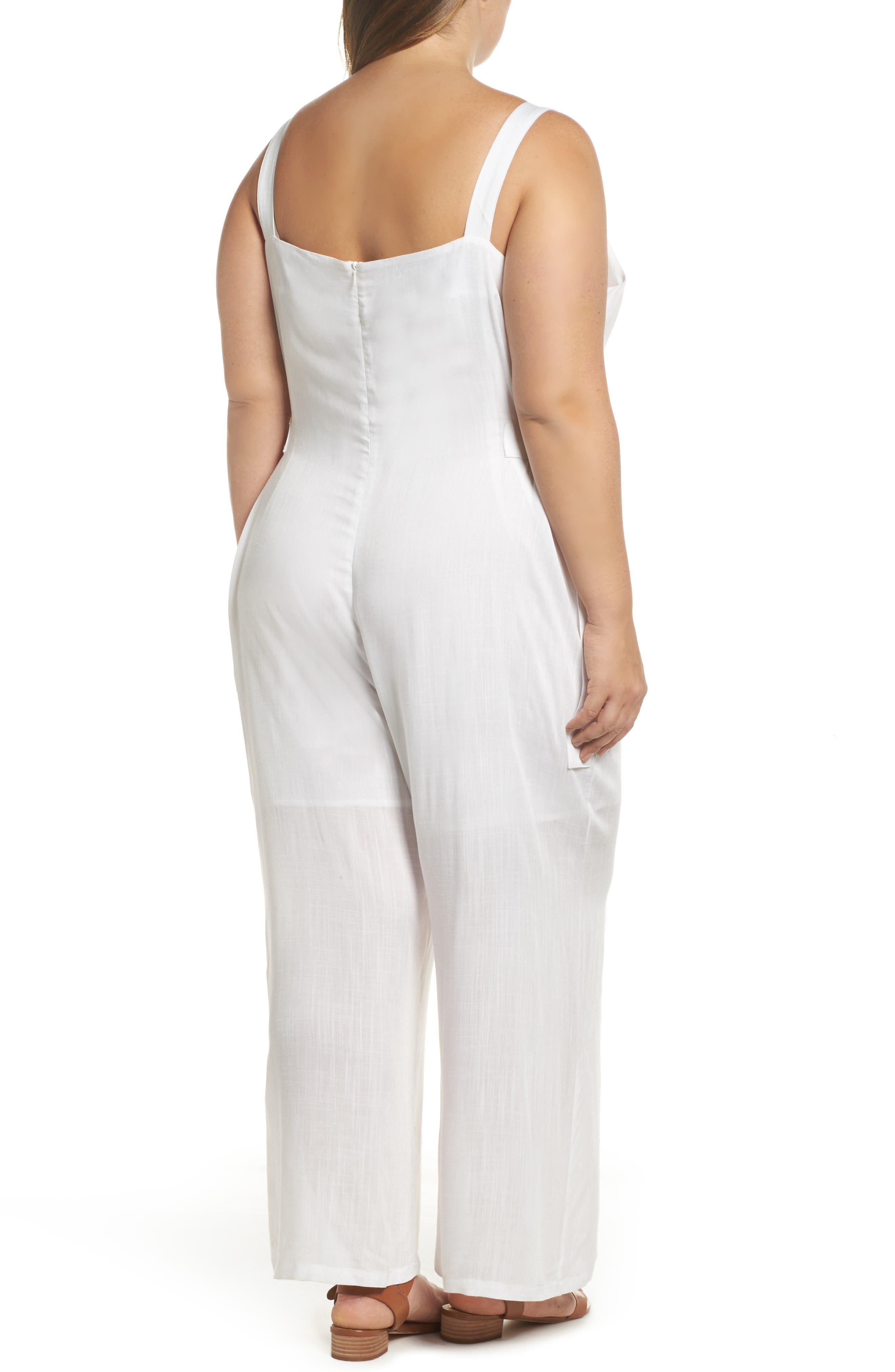Culotte Jumpsuit,                             Alternate thumbnail 3, color,                             White