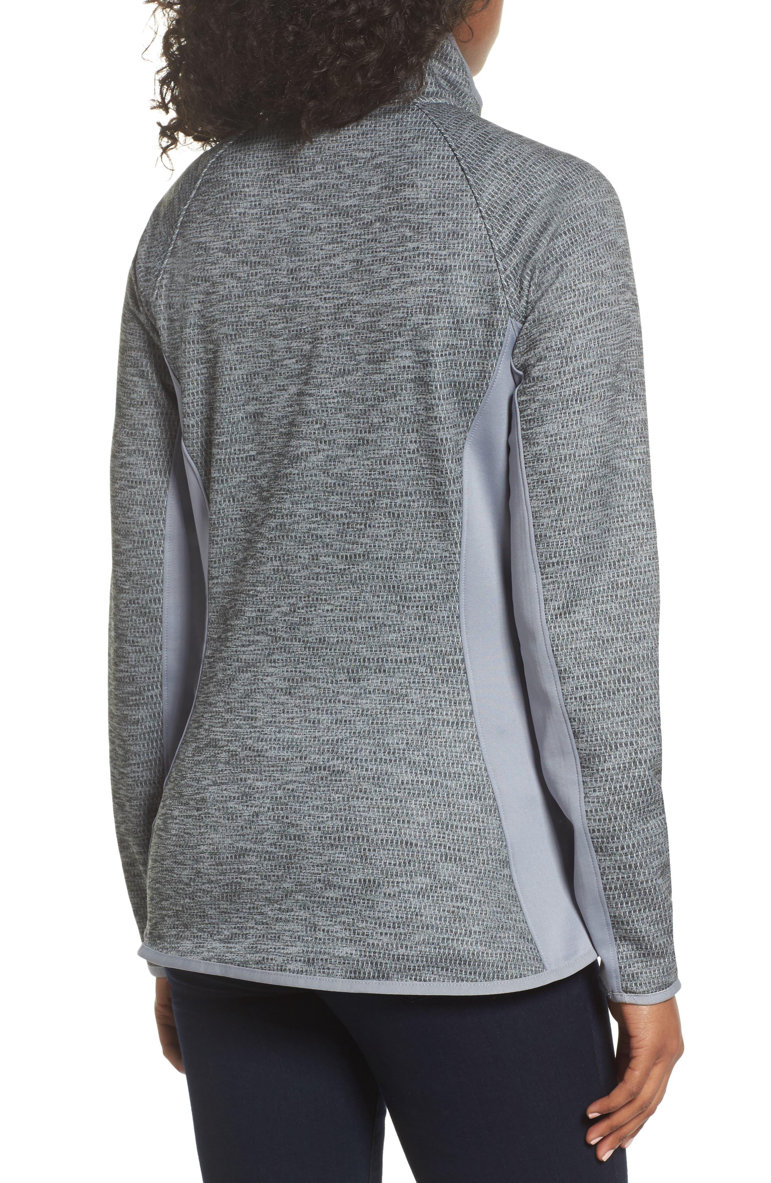 Arcata Zip Jacket,                             Alternate thumbnail 2, color,                             Tnf Mid Grey Heather/ Black
