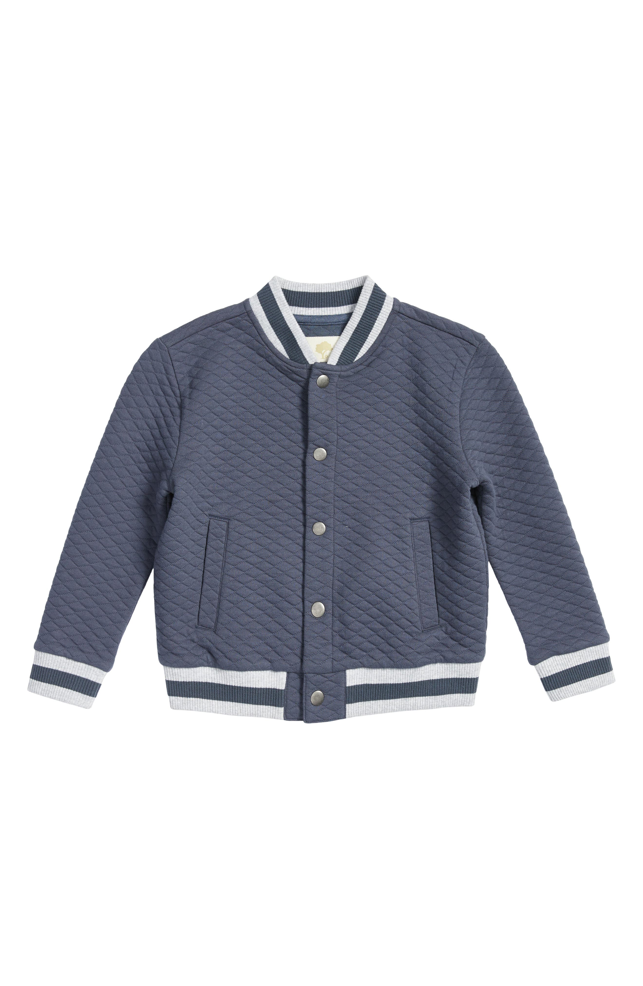 Quilted Baseball Jacket,                         Main,                         color, Navy Armada
