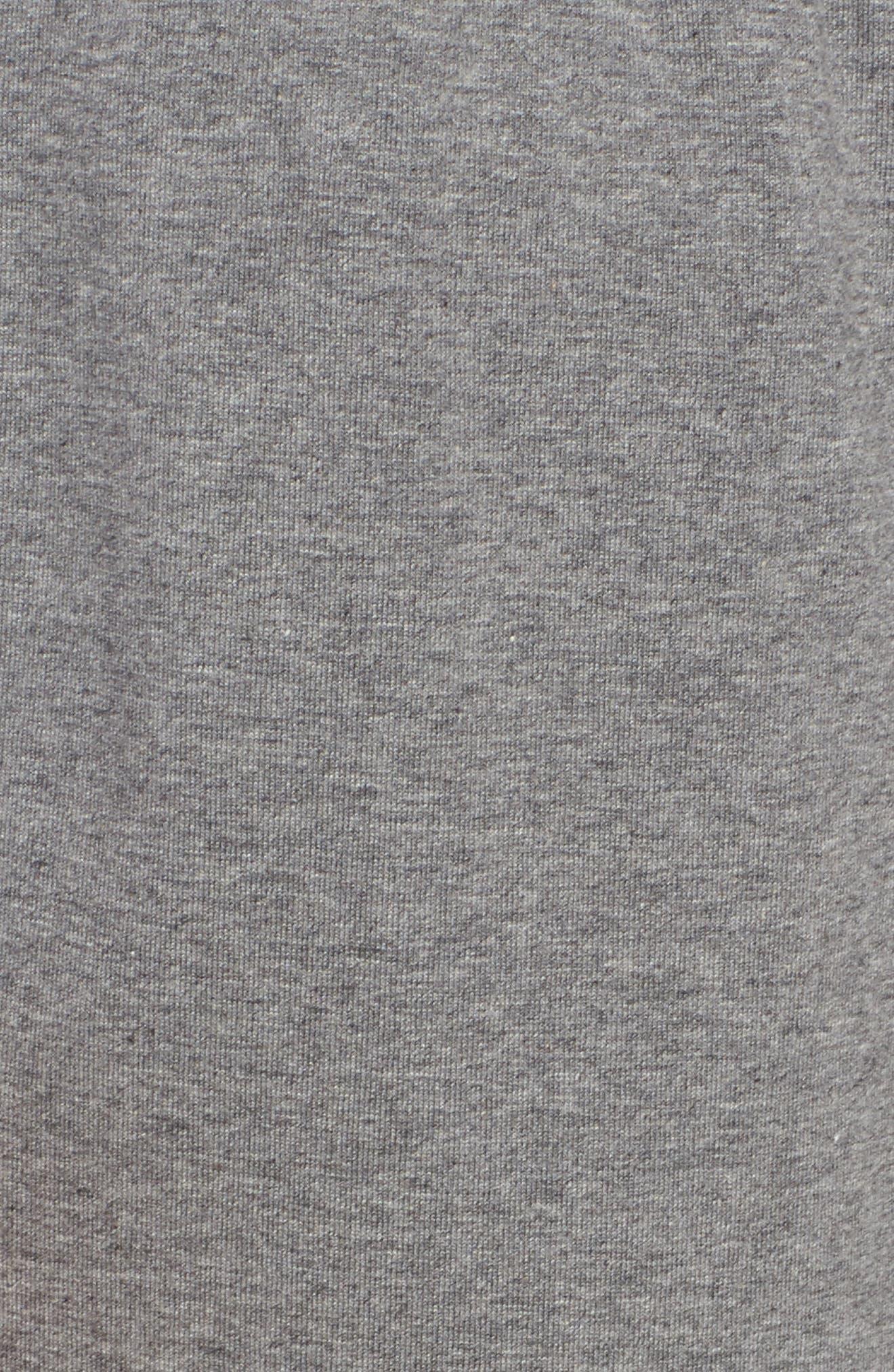 Organic Cotton Jersey Crop Pants,                             Alternate thumbnail 6, color,                             Grey