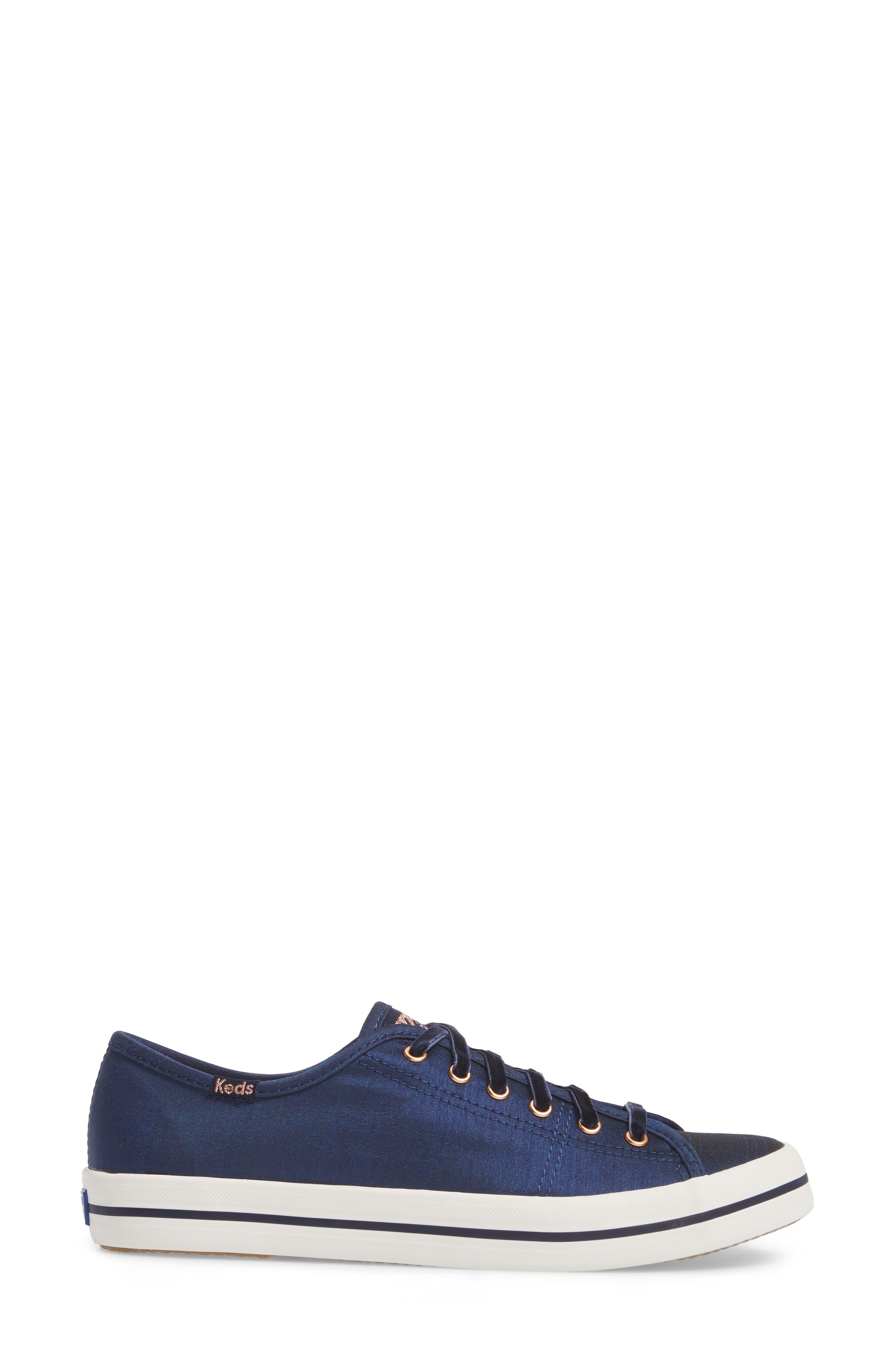 Kickstart Sneaker,                             Alternate thumbnail 3, color,                             Navy Satin