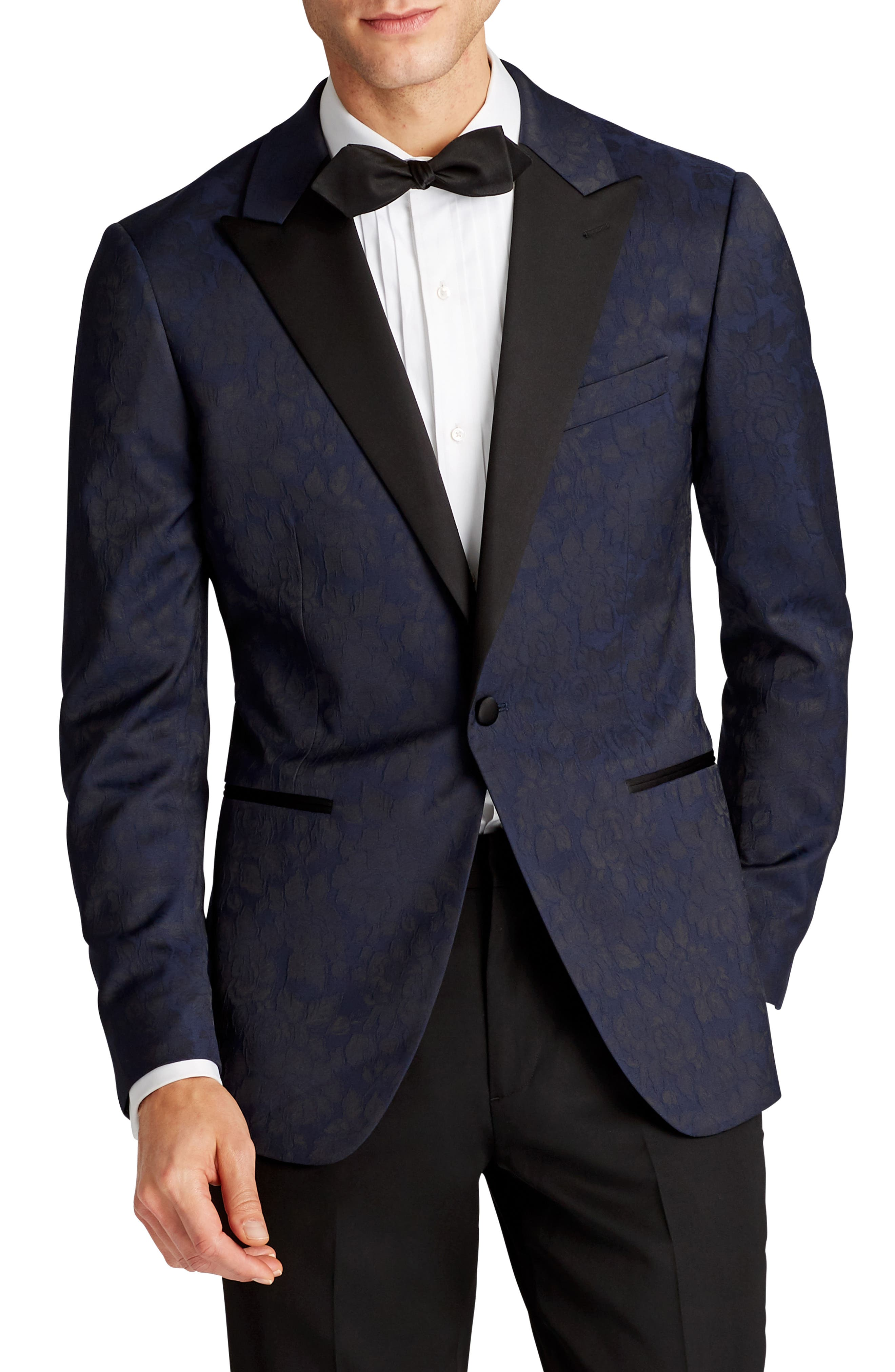 Capstone Slim Fit Stretch Dinner Jacket,                         Main,                         color, Floral Jacquard