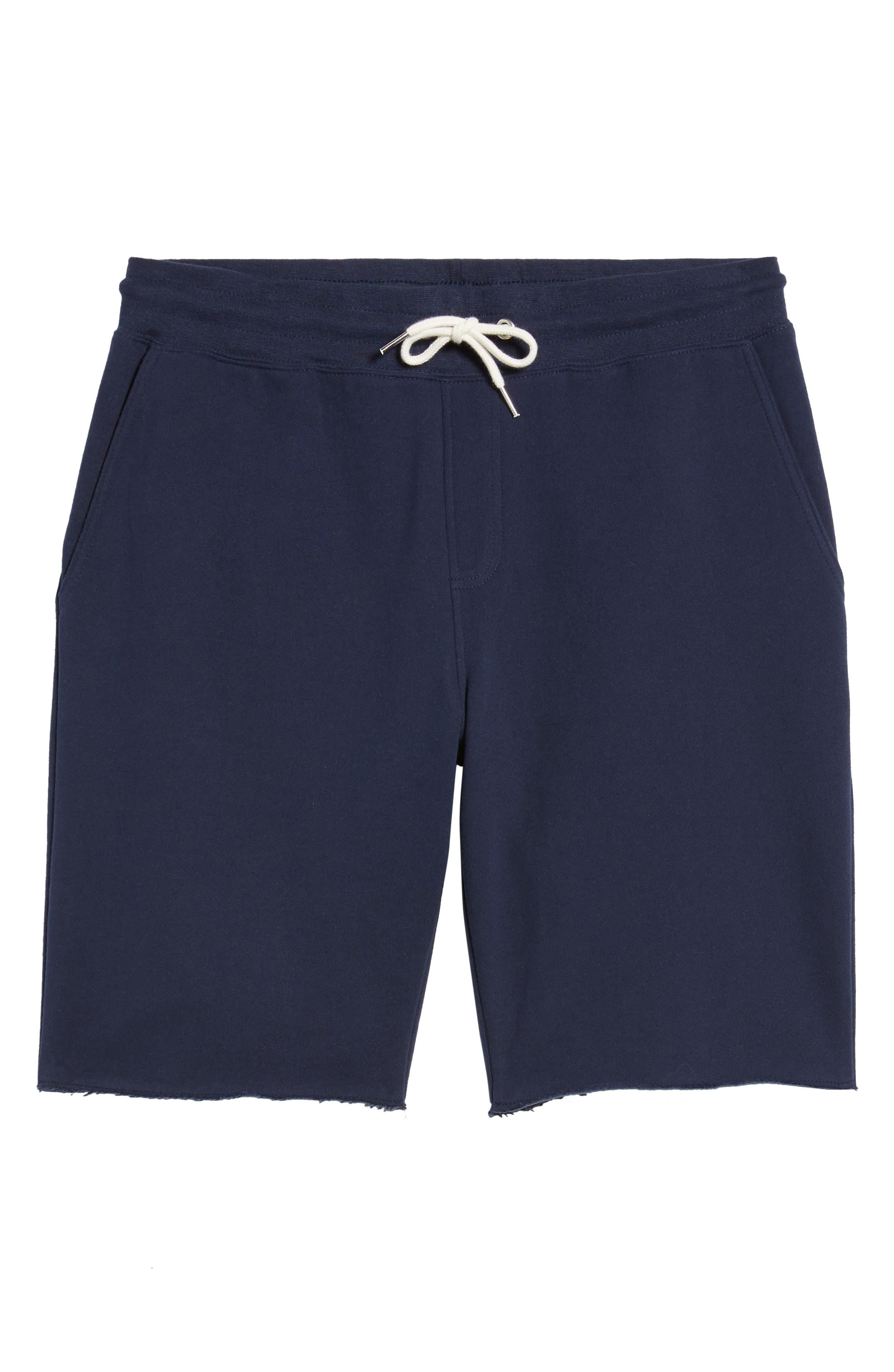 Fleece Shorts,                             Alternate thumbnail 6, color,                             Navy Peacoat