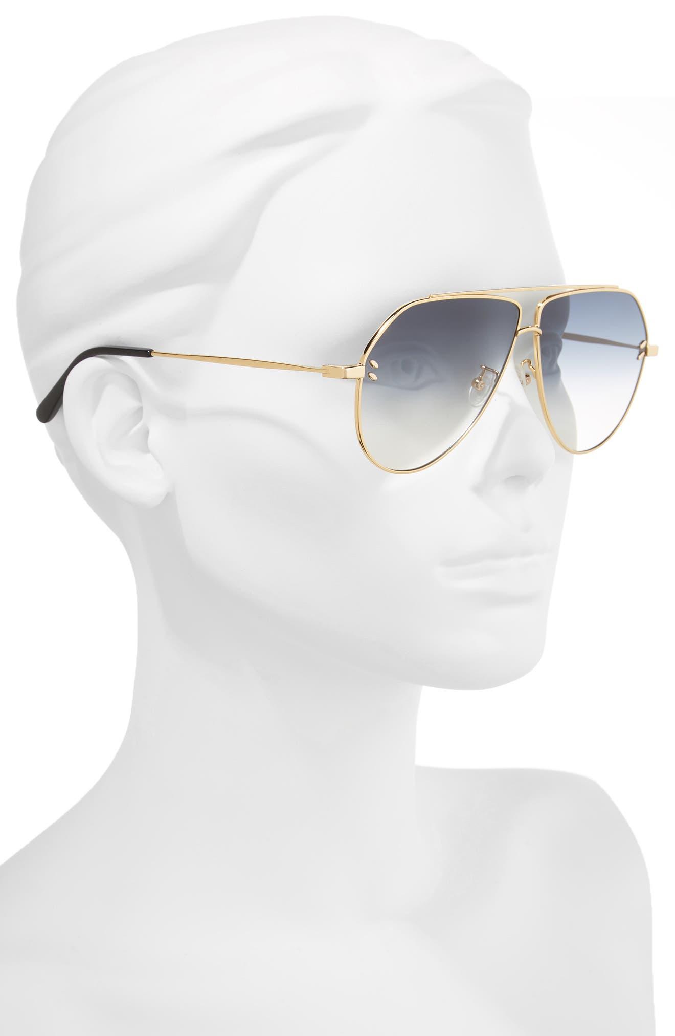 Alternate Image 2  - Stella McCartney 60mm Aviator Sunglasses