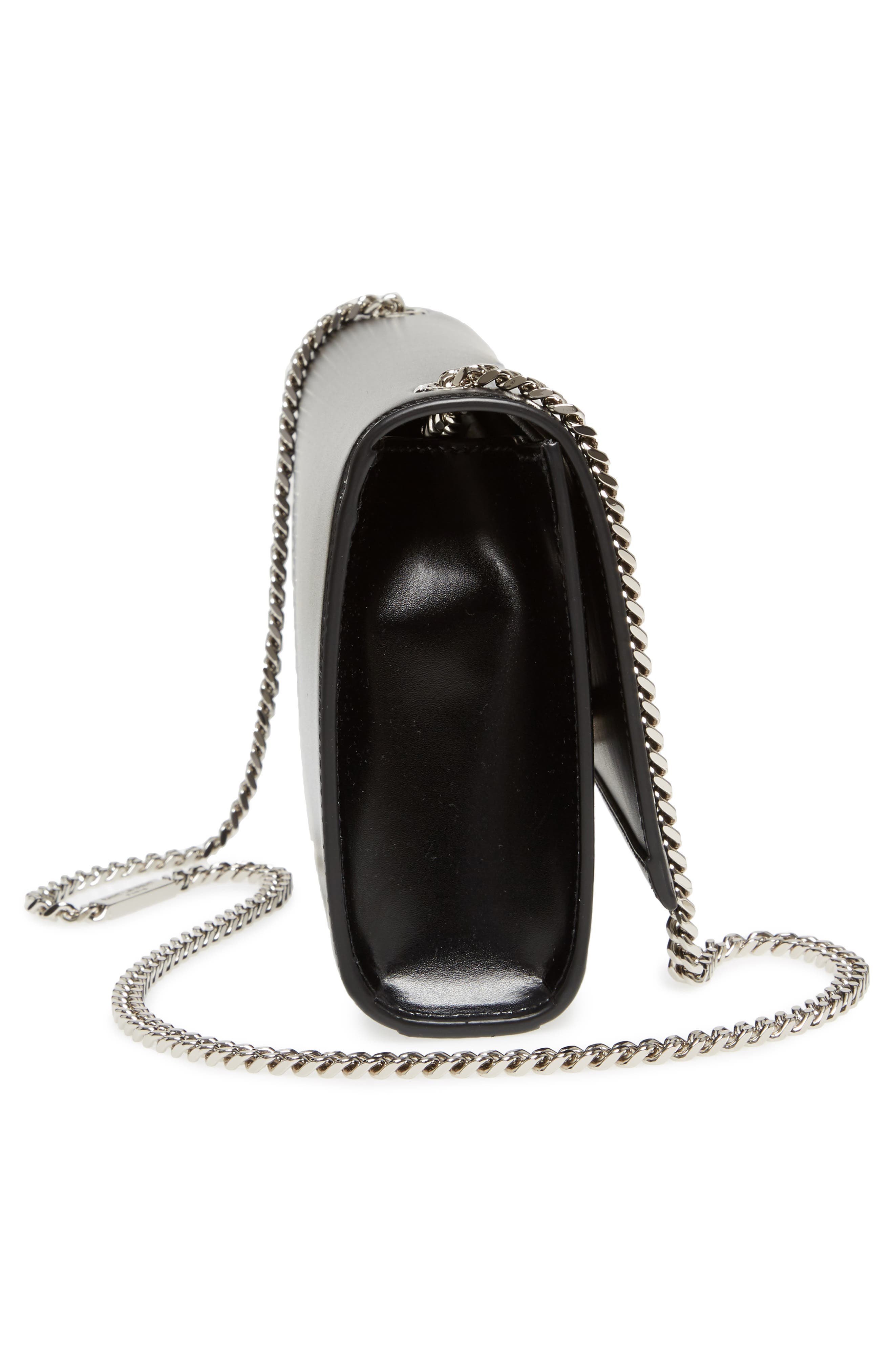 Medium Kate Calfskin Leather Crossbody Bag,                             Alternate thumbnail 5, color,                             Noir
