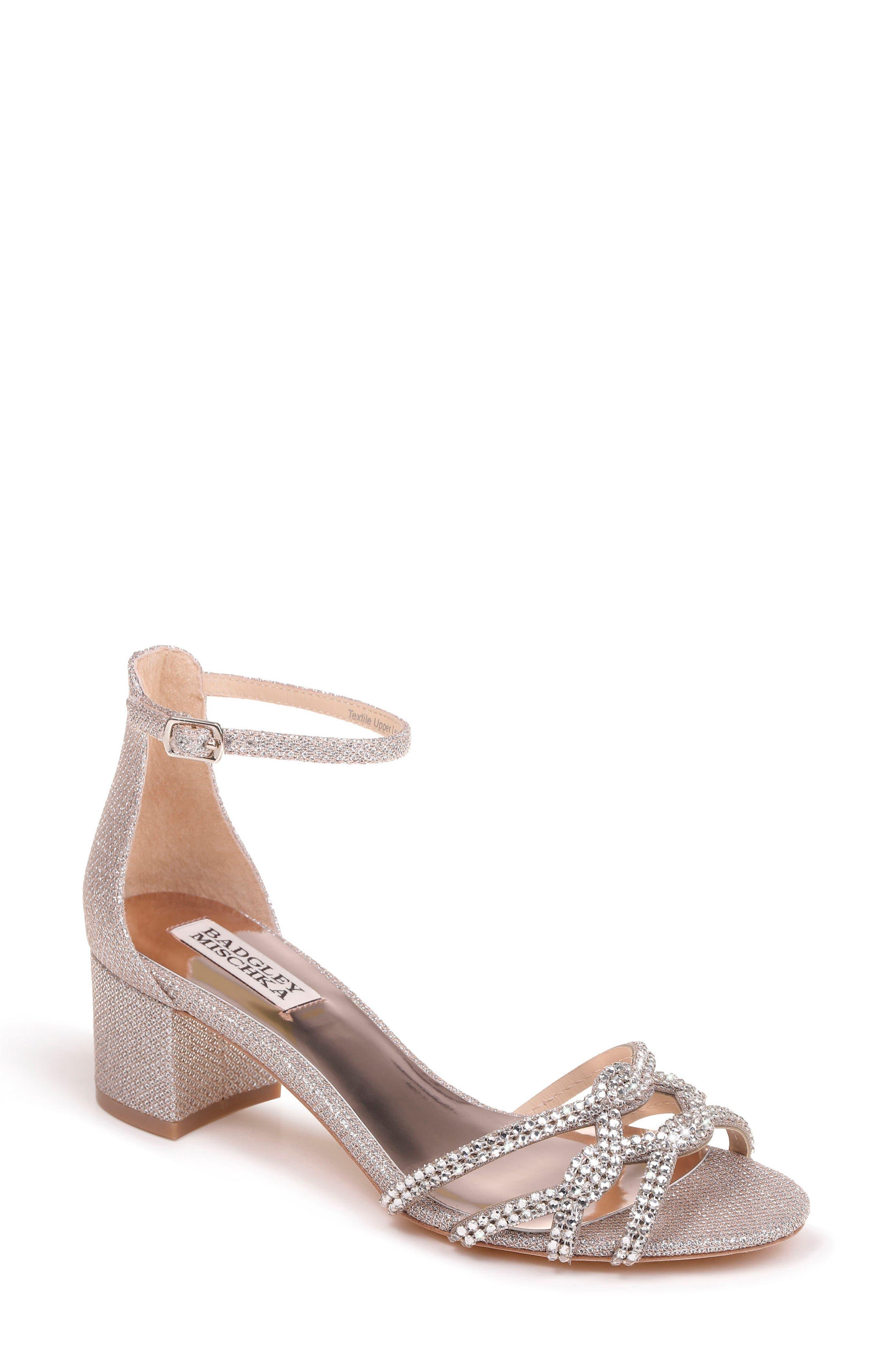 Alternate Image 1 Selected - Badgley Mischka Sonya Block Heel Sandal (Women)