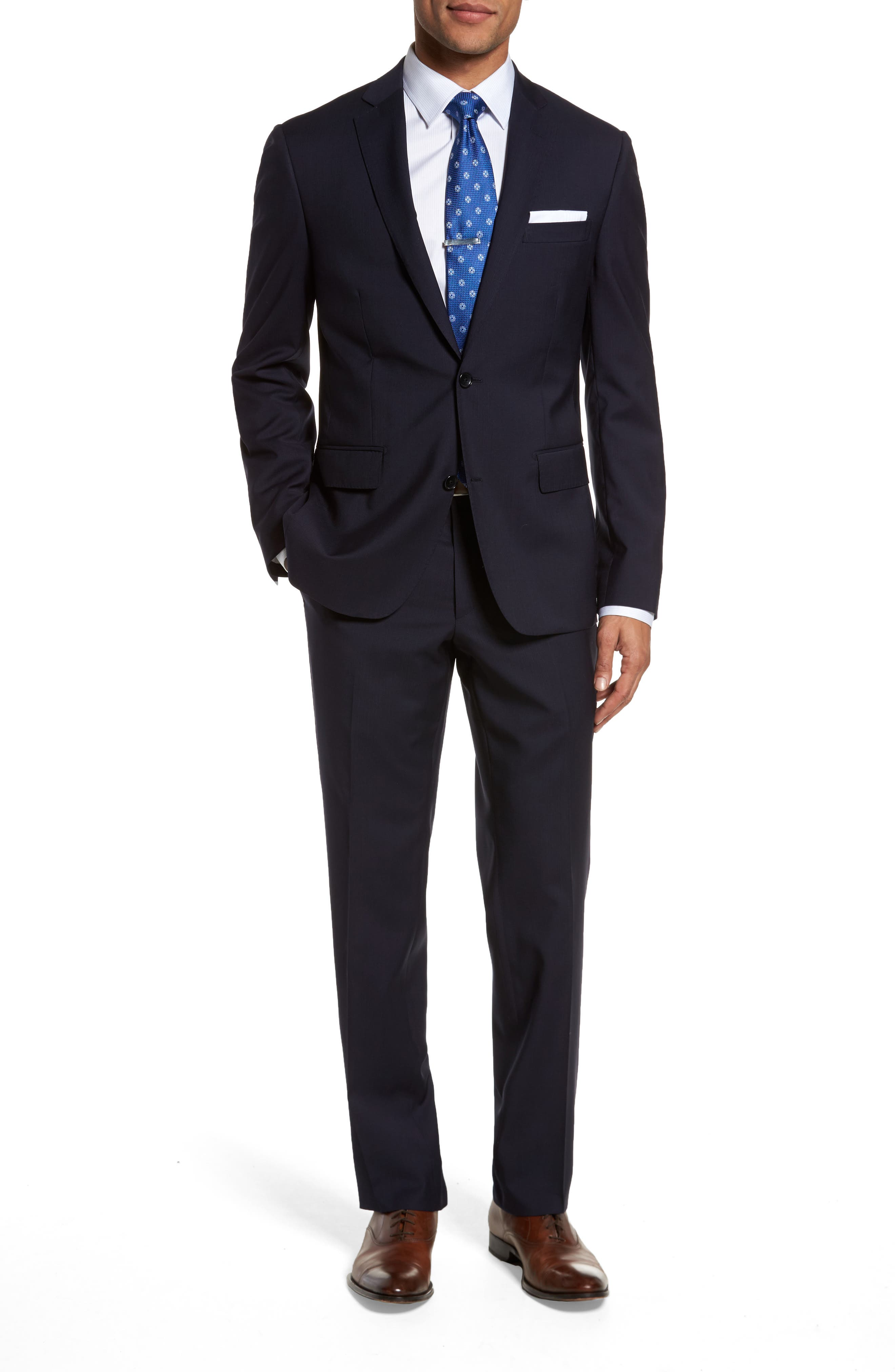 John W. Nordstrom® Classic Fit Check Wool Suit