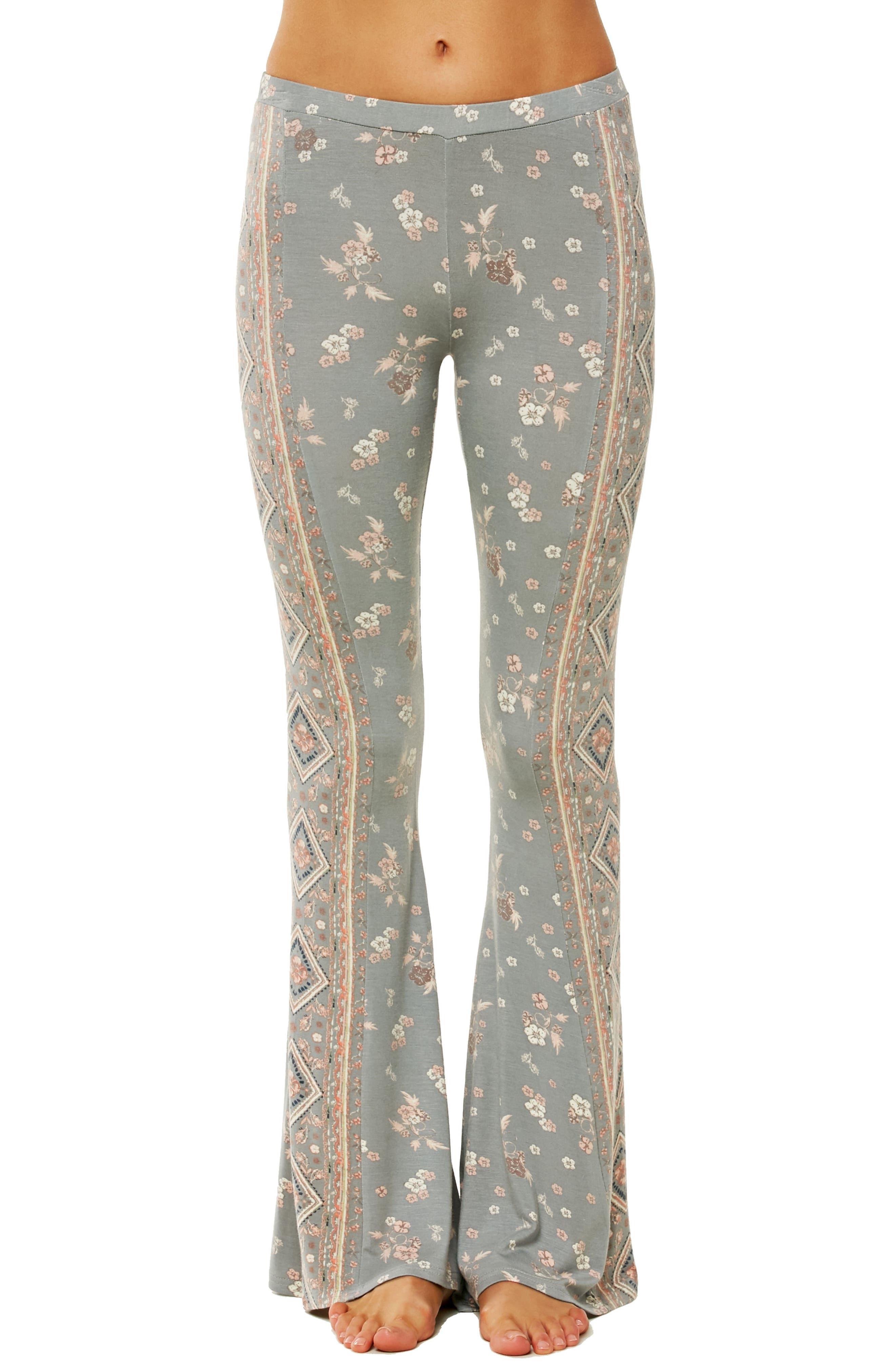 Kelli Knit Flare Pants,                             Main thumbnail 1, color,                             Neutral Gray - Fog