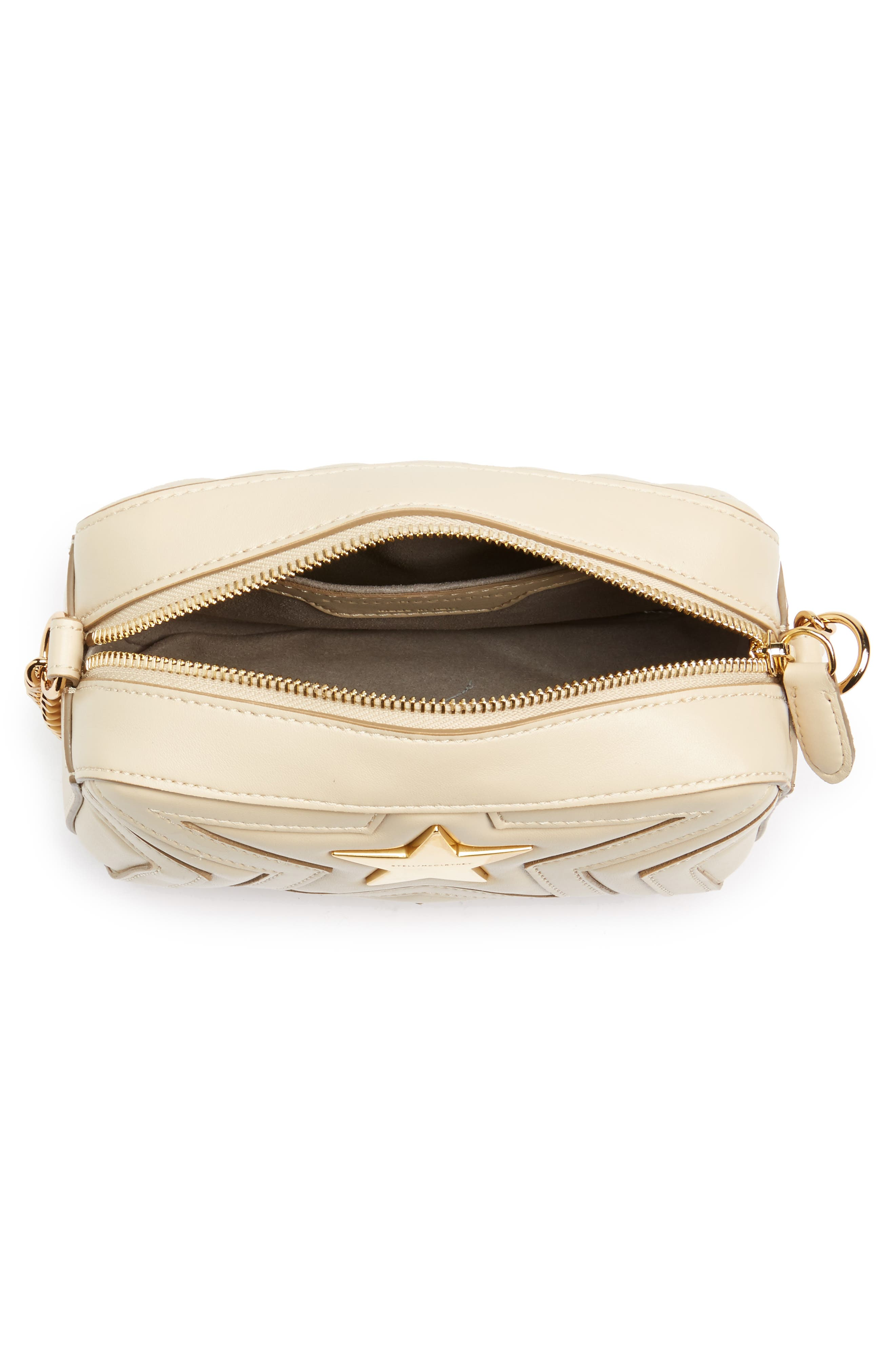 Alternate Image 4  - Stella McCartney Mini Star Quilted Faux Leather Camera Bag