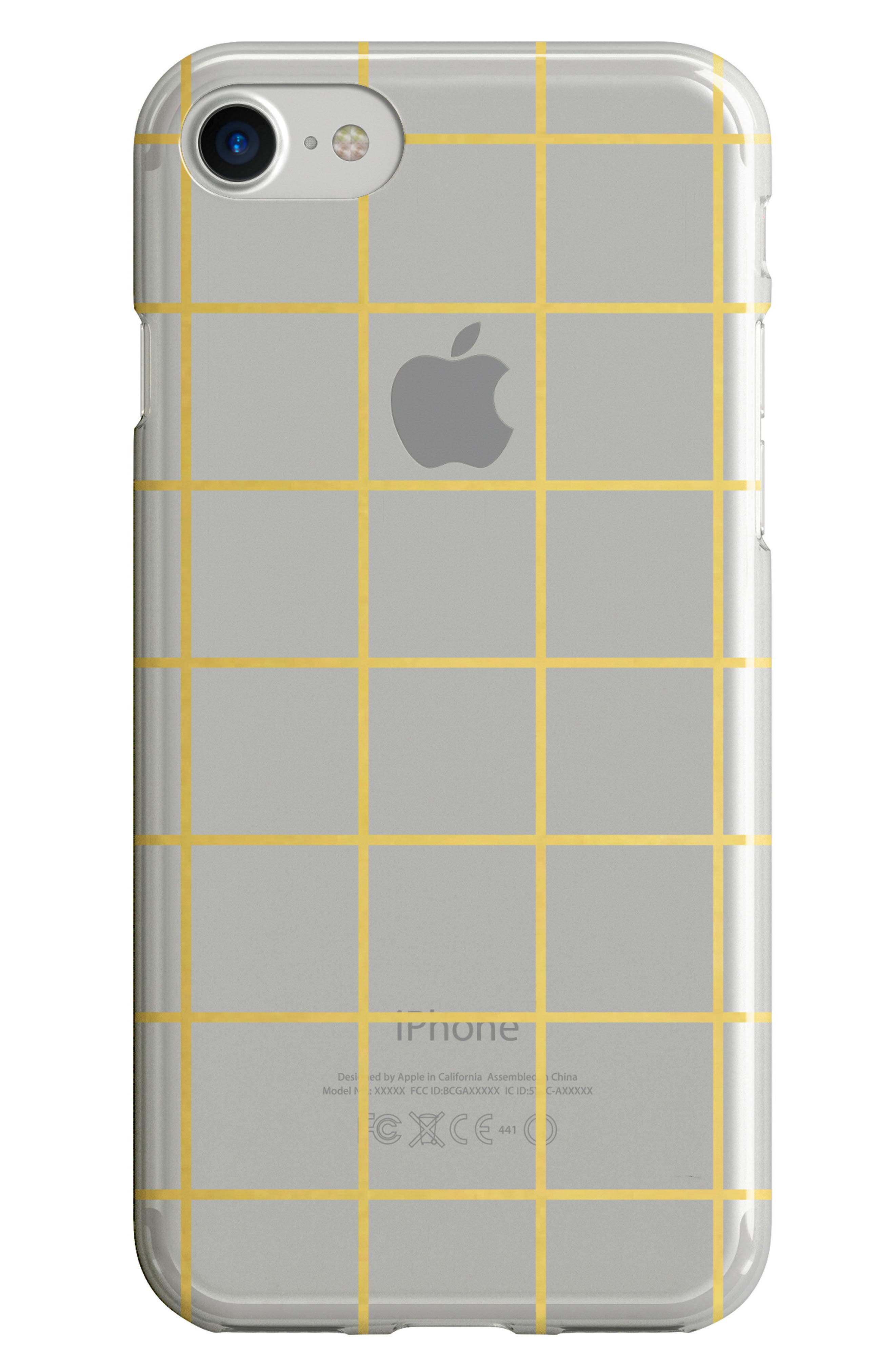 Alternate Image 1 Selected - Recover Gold Grid iPhone 6/6s/7/8 & 6/6s/7/8 Plus Case