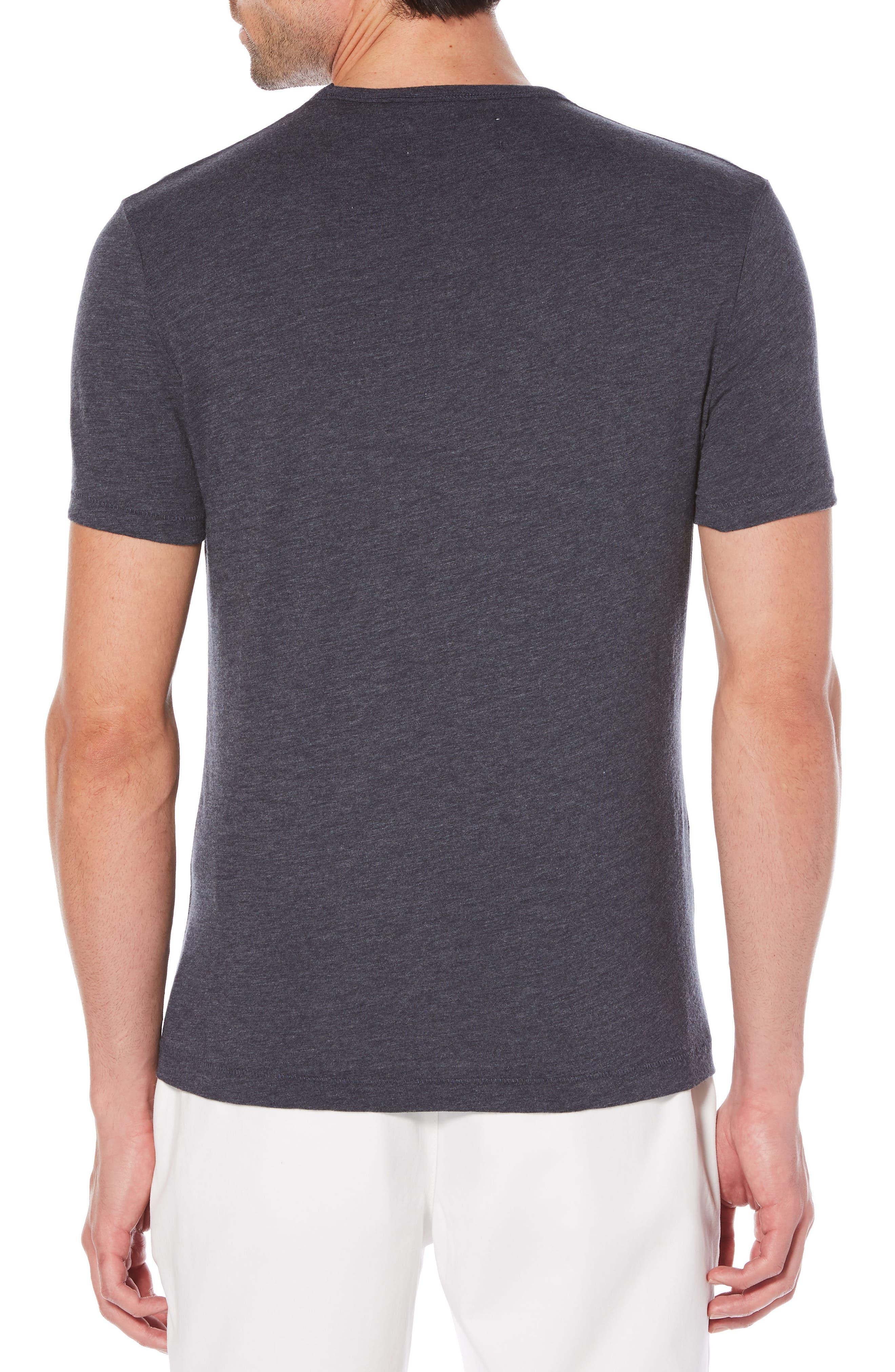 Heritage Slim Slub T-Shirt,                             Alternate thumbnail 2, color,                             Dark Sapphire