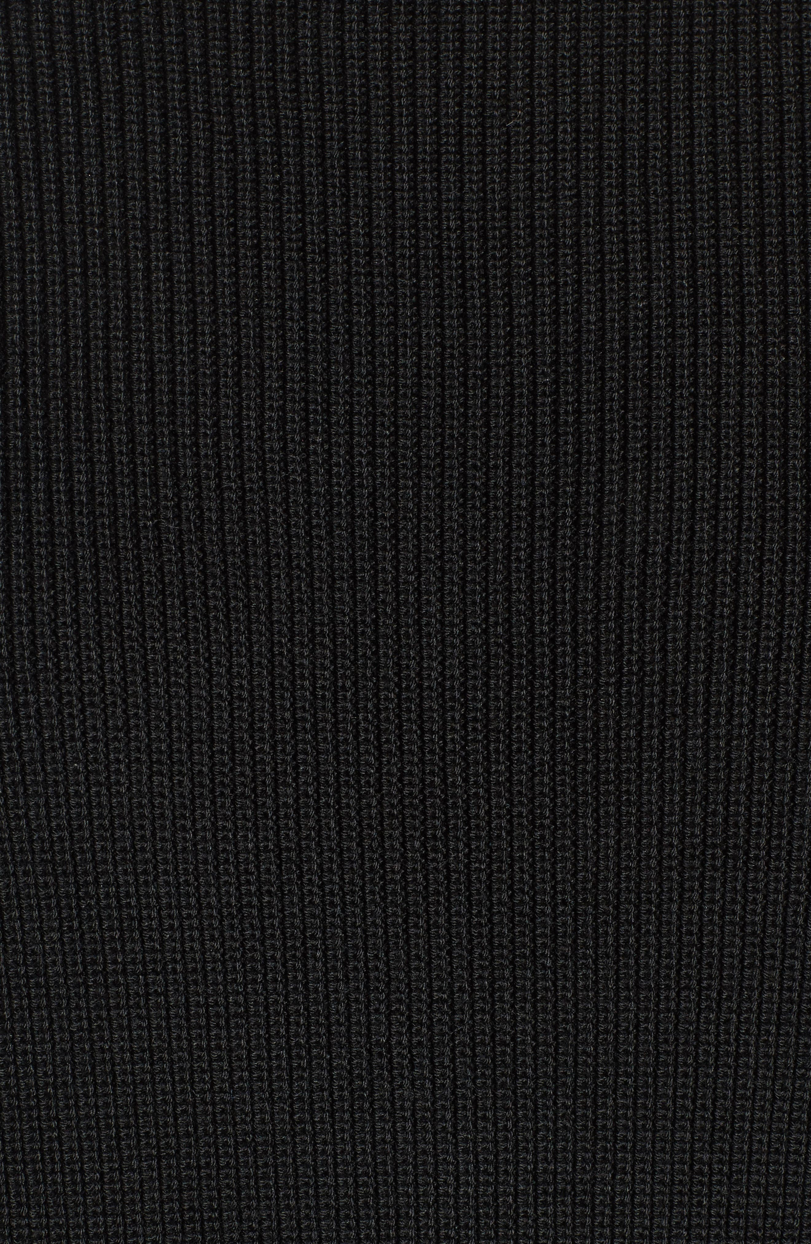 Twist Back Sweater,                             Alternate thumbnail 5, color,                             Black