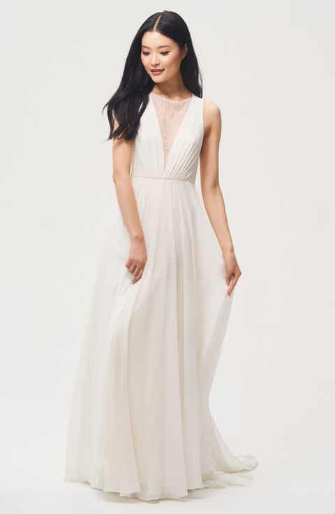 Womens a line wedding dresses bridal gowns nordstrom jenny yoo fallon lace chiffon a line gown junglespirit Gallery