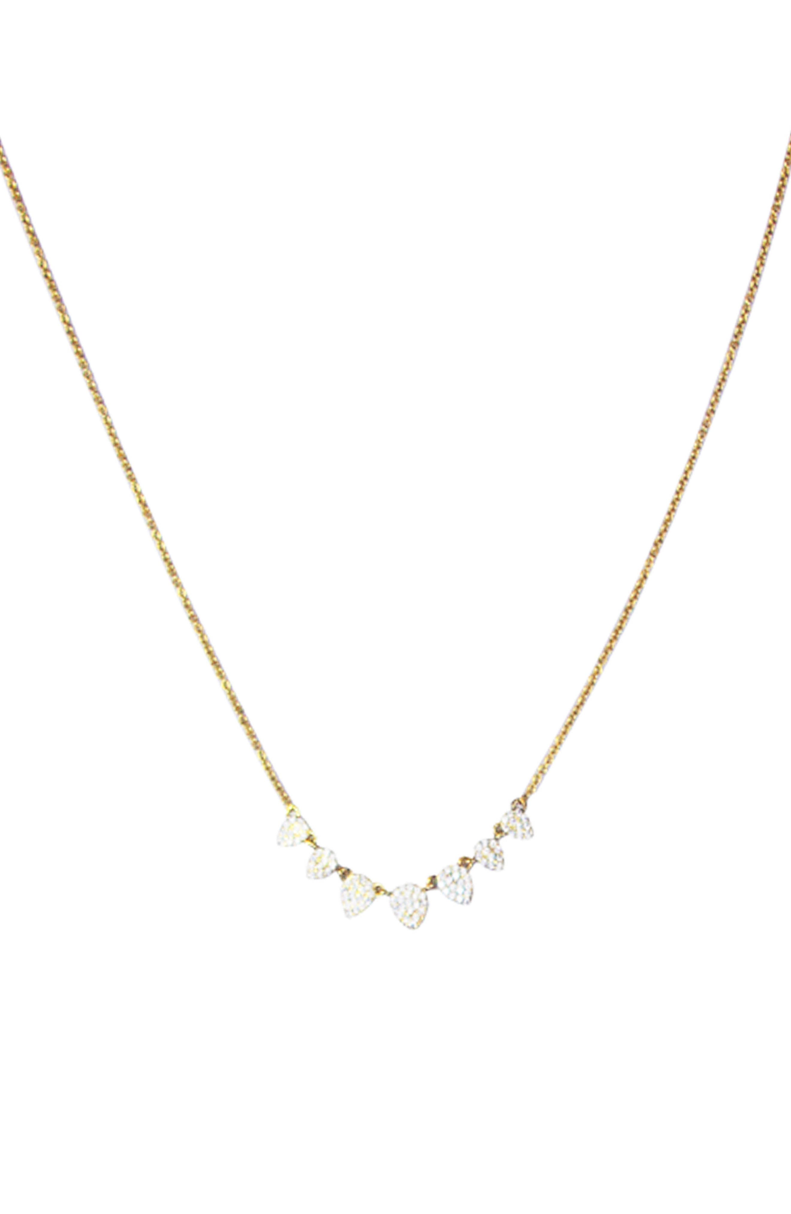 Cubic Zirconia Pavé Necklace,                         Main,                         color, Gold