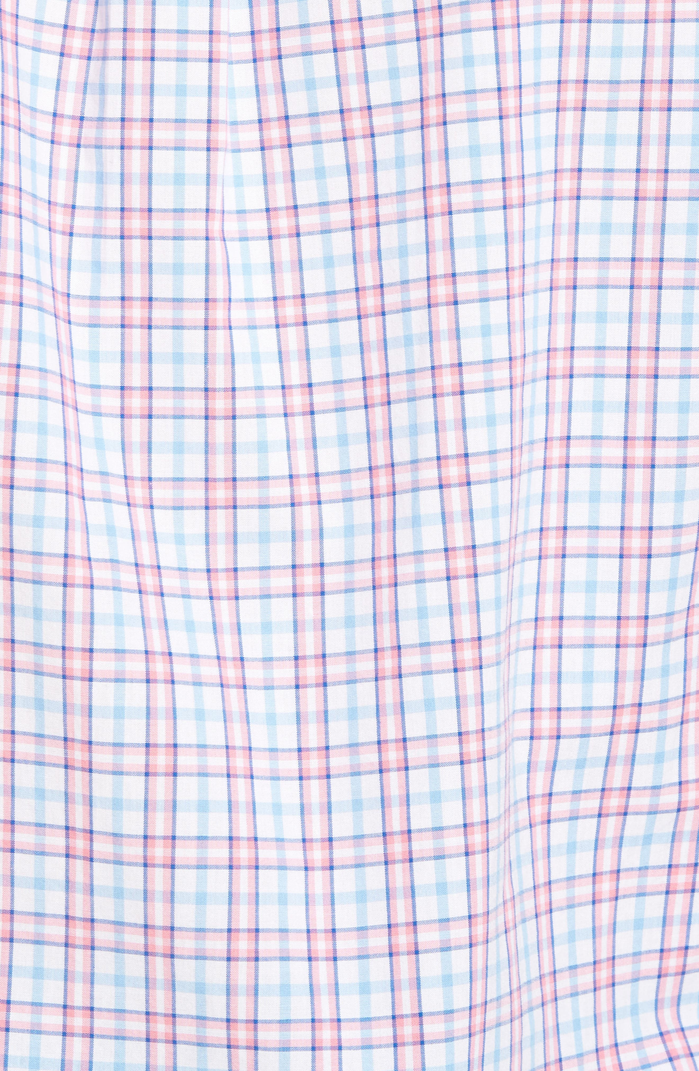 Kennard Tucker Slim Fit Plaid Sport Shirt,                             Alternate thumbnail 4, color,                             Bahama Breeze