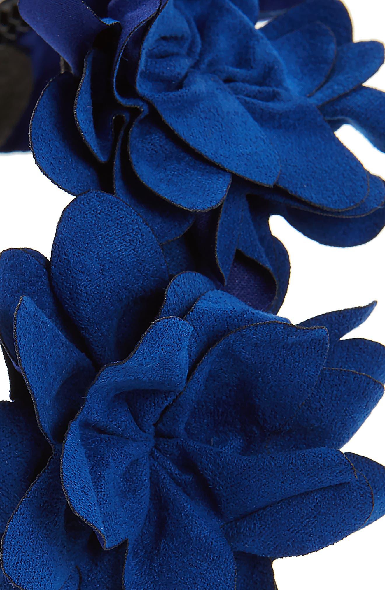 Alternate Image 2  - Maniere Flower Headband (Big Girls)