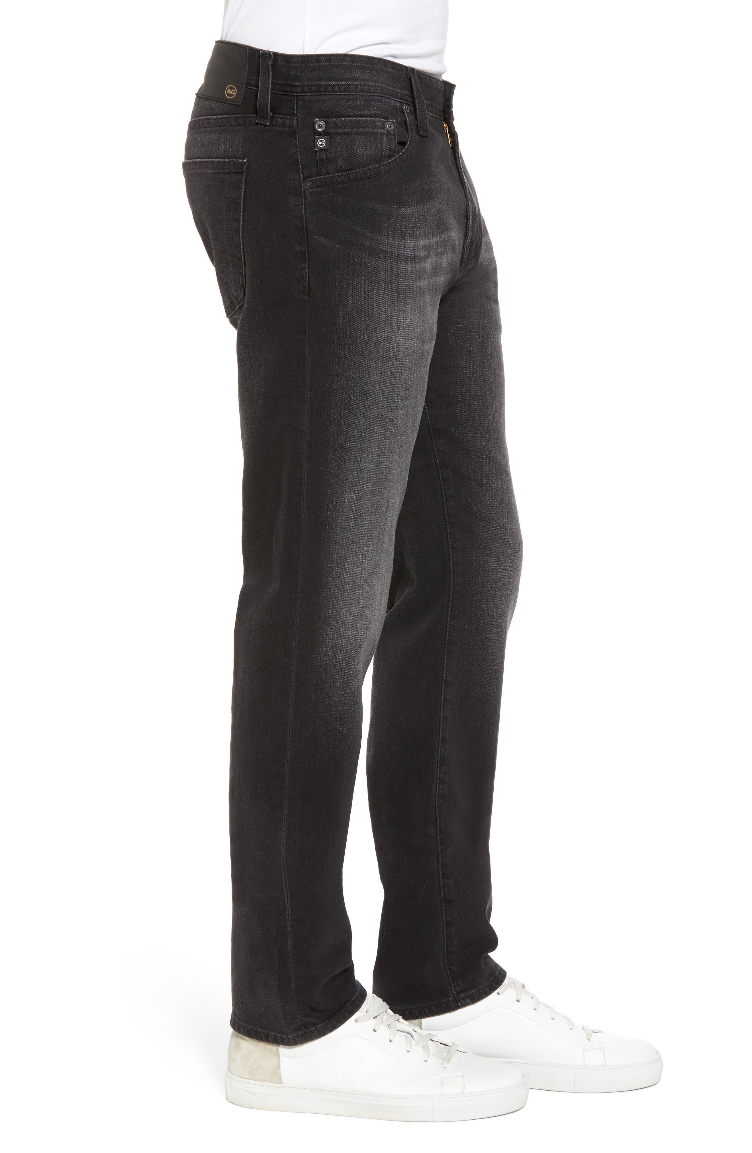 Tellis Modern Slim Fit Jeans,                             Alternate thumbnail 3, color,                             Smudged Black