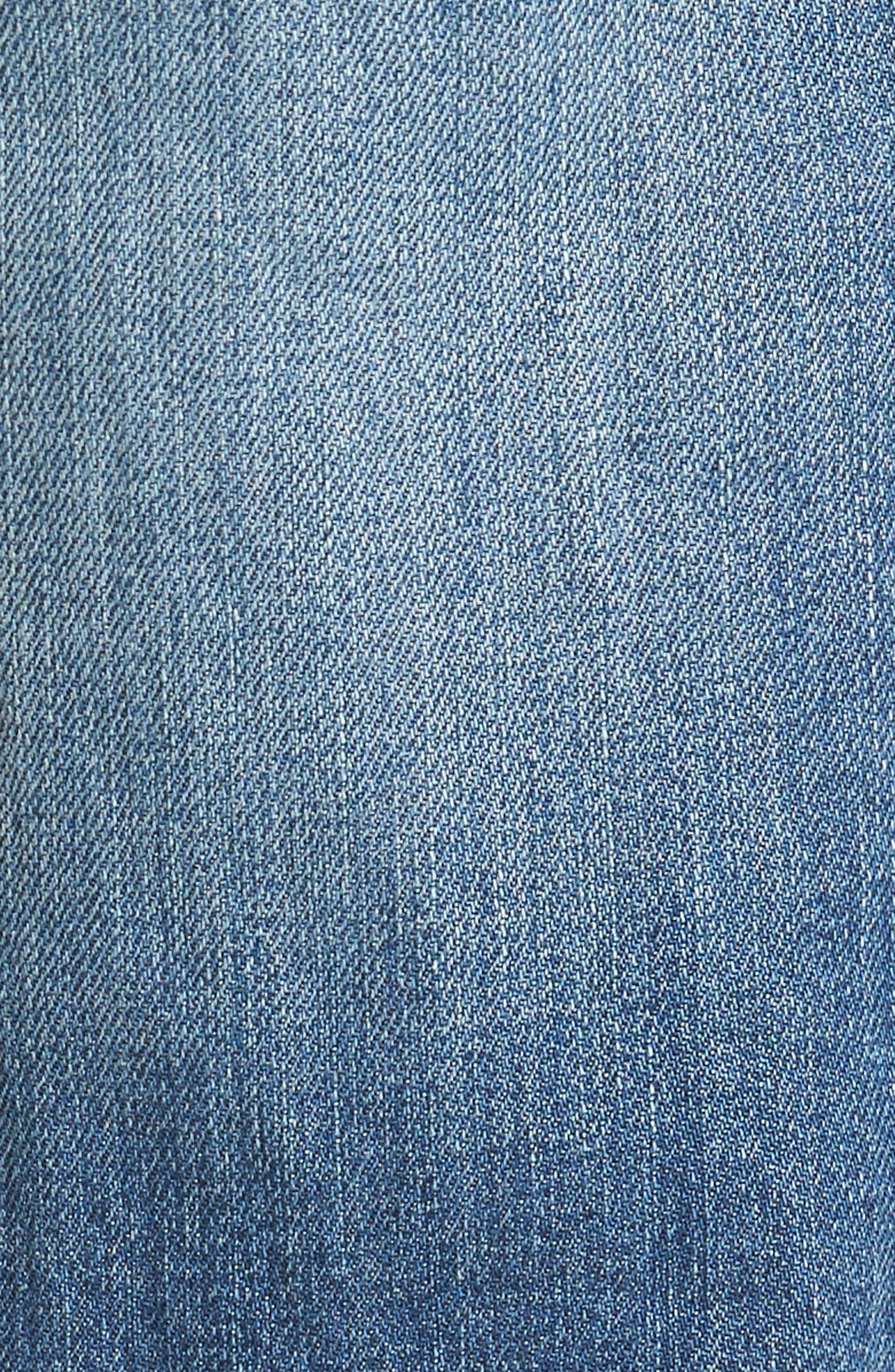 Denim Slim Straight Leg Jeans,                             Alternate thumbnail 5, color,                             Light Blue