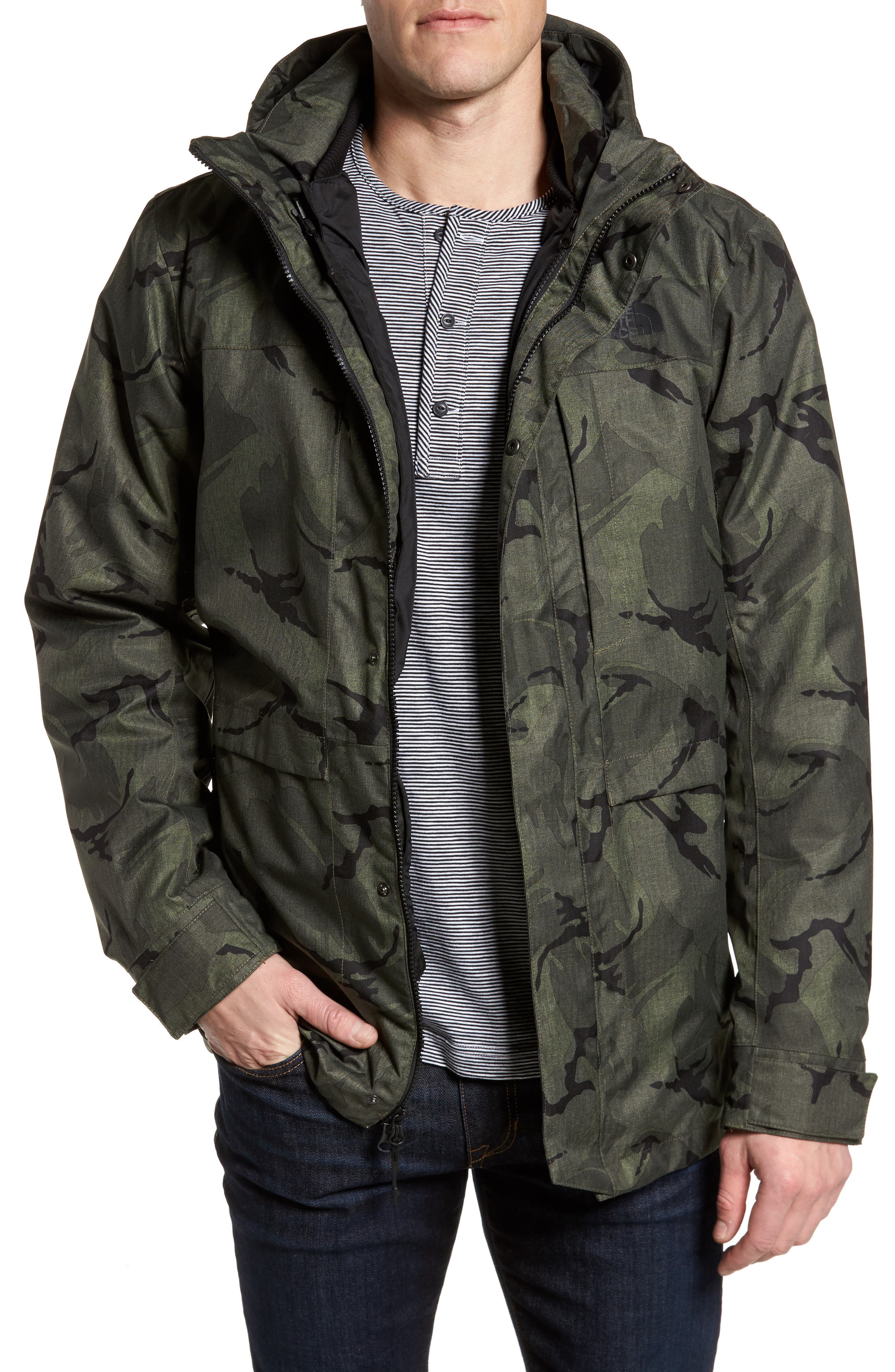 Outer Boroughs 3-in-1 TriClimate<sup>®</sup> Waterproof Parka,                         Main,                         color, New Taupe Green Disrupt