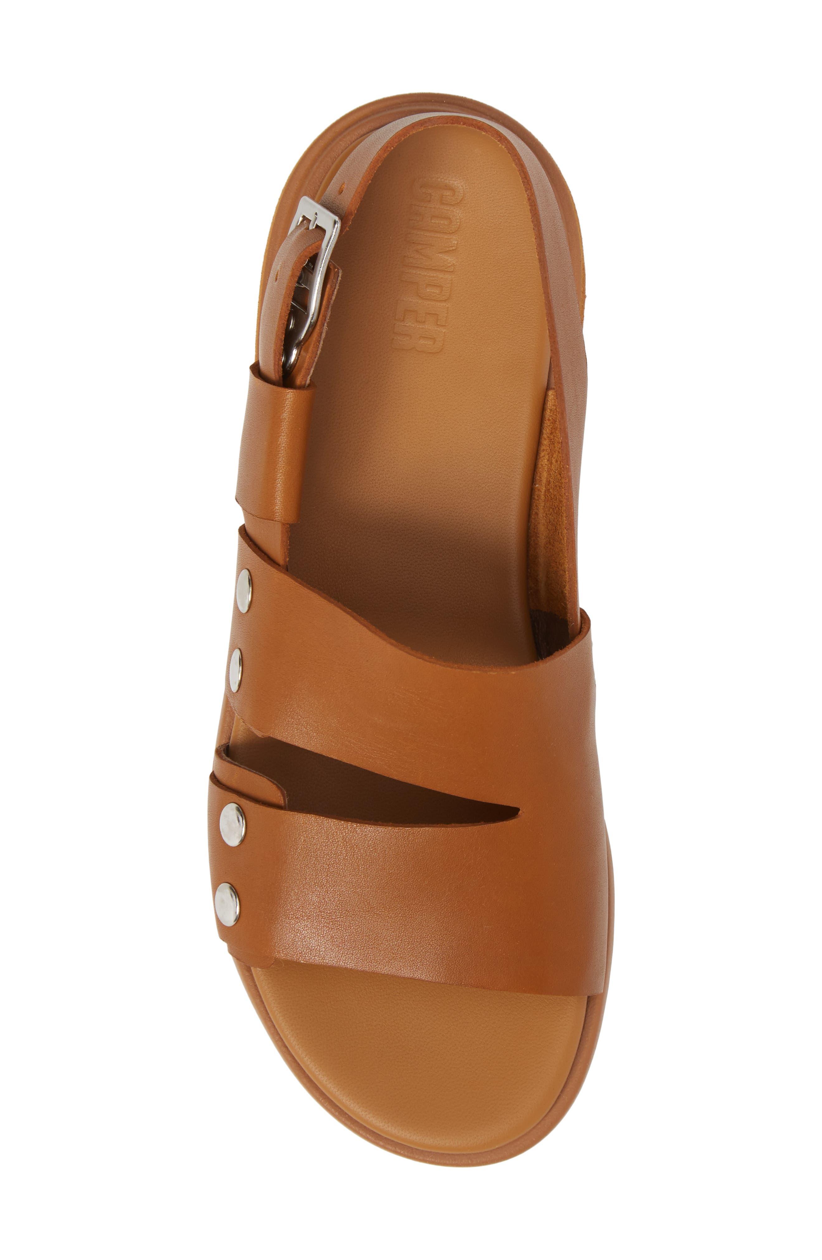 Edy Slingback Sandal,                             Alternate thumbnail 5, color,                             Rust/ Copper Leather
