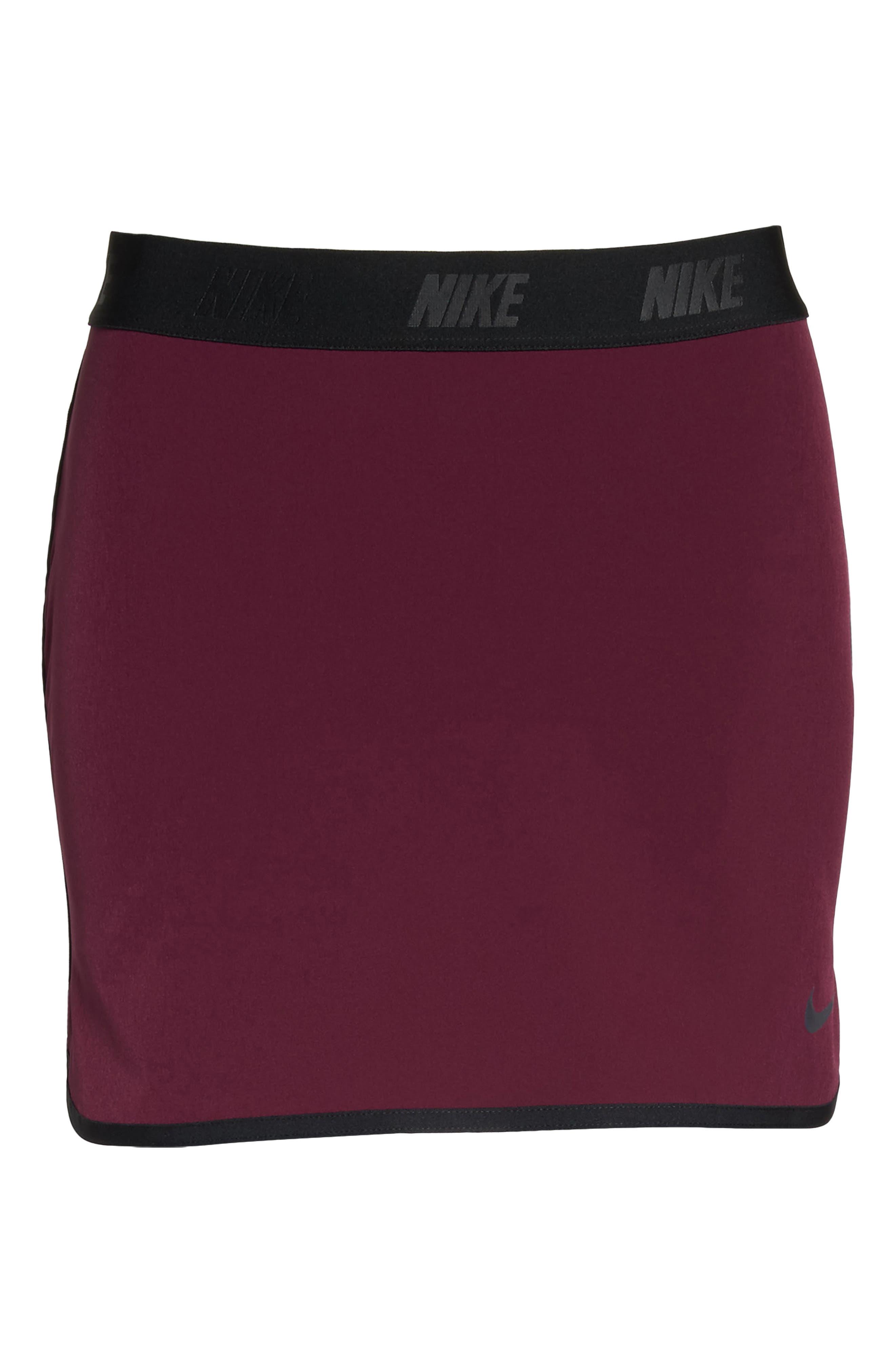 Flex Tennis Skirt,                             Alternate thumbnail 7, color,                             Burgundy