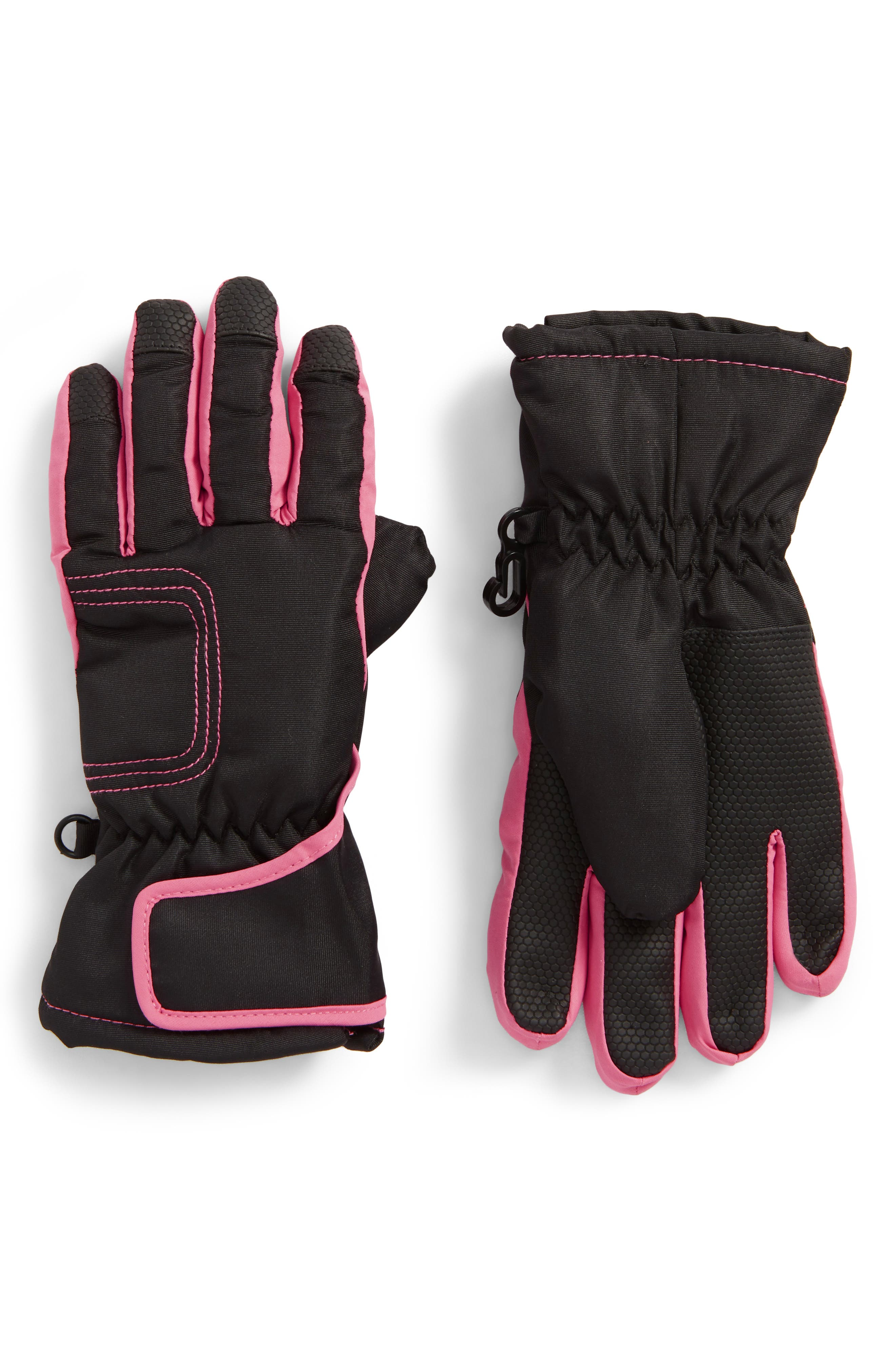Pop Color Waterproof Gloves,                         Main,                         color, Black