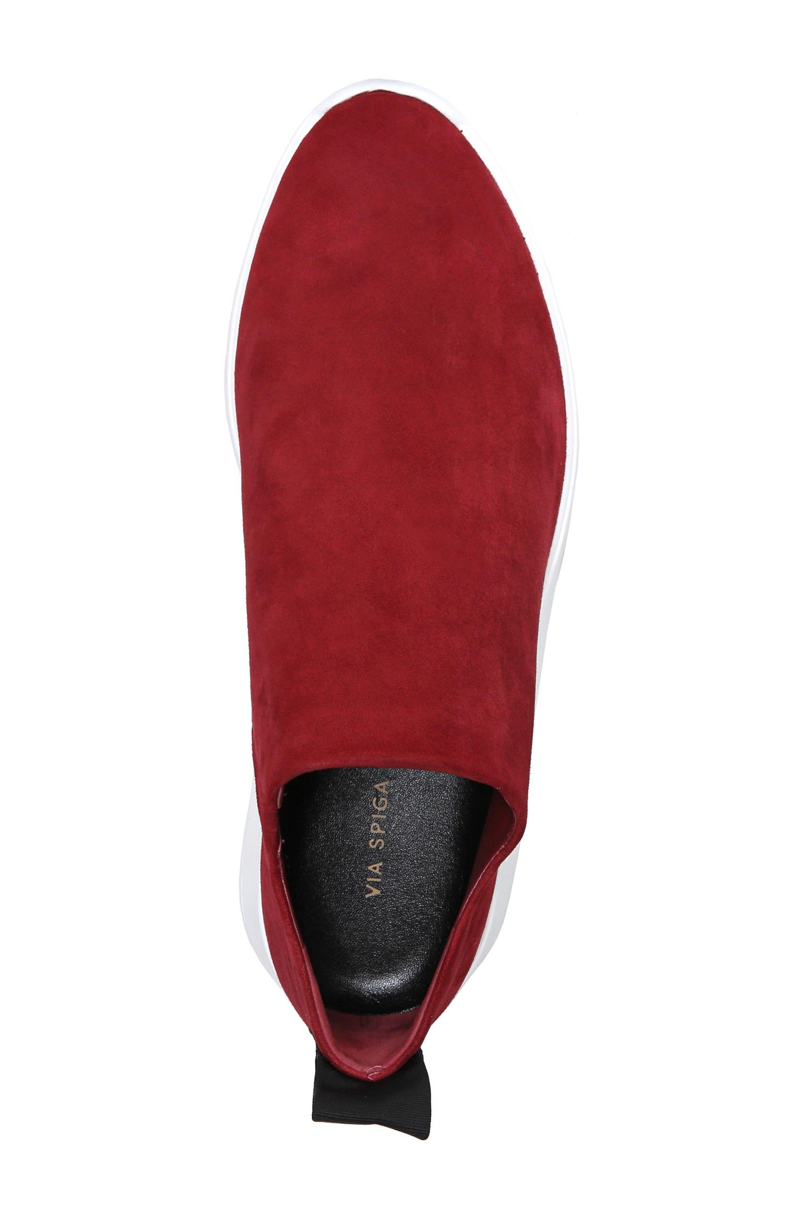Marlow Slip-On Sneaker,                             Alternate thumbnail 5, color,                             Ruby Suede