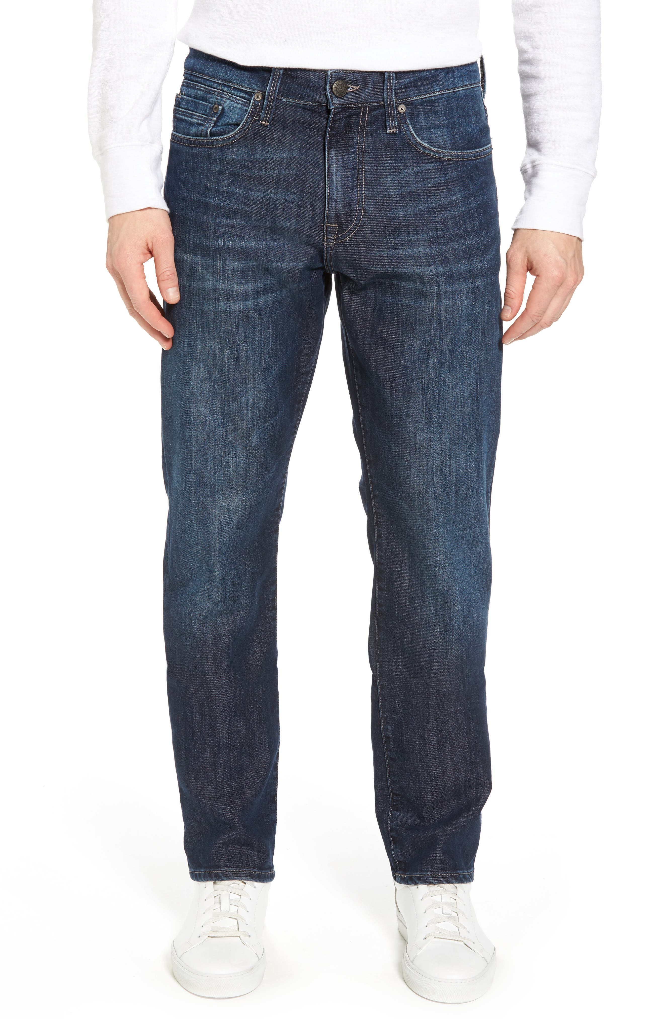Myles Straight Leg Jeans,                             Main thumbnail 1, color,                             Deep Brushed Stanford