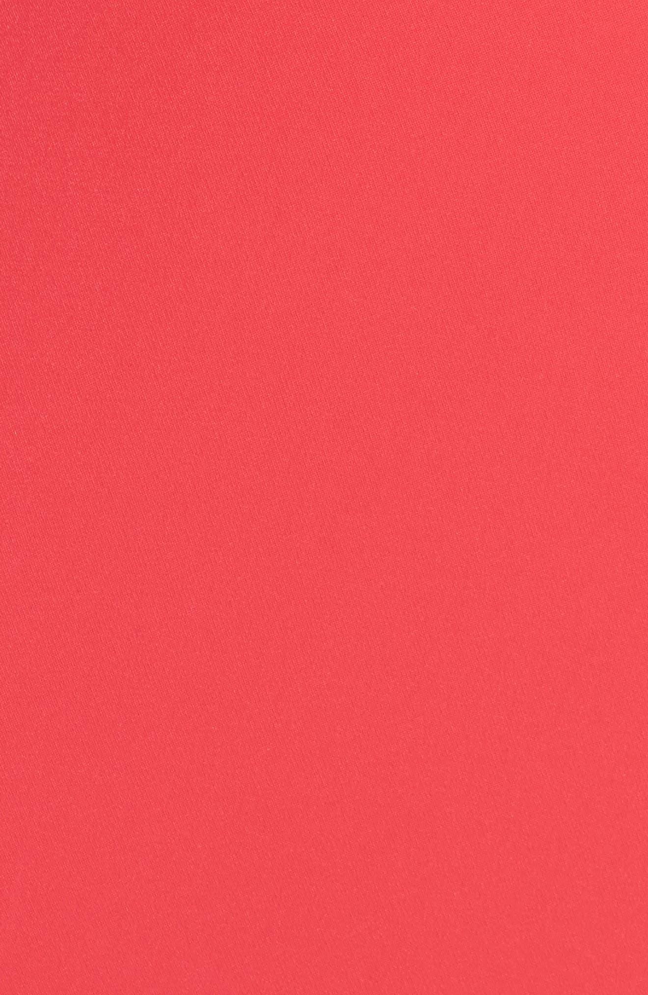 Embellished Cold Shoulder Crepe Gown,                             Alternate thumbnail 5, color,                             Pop Red
