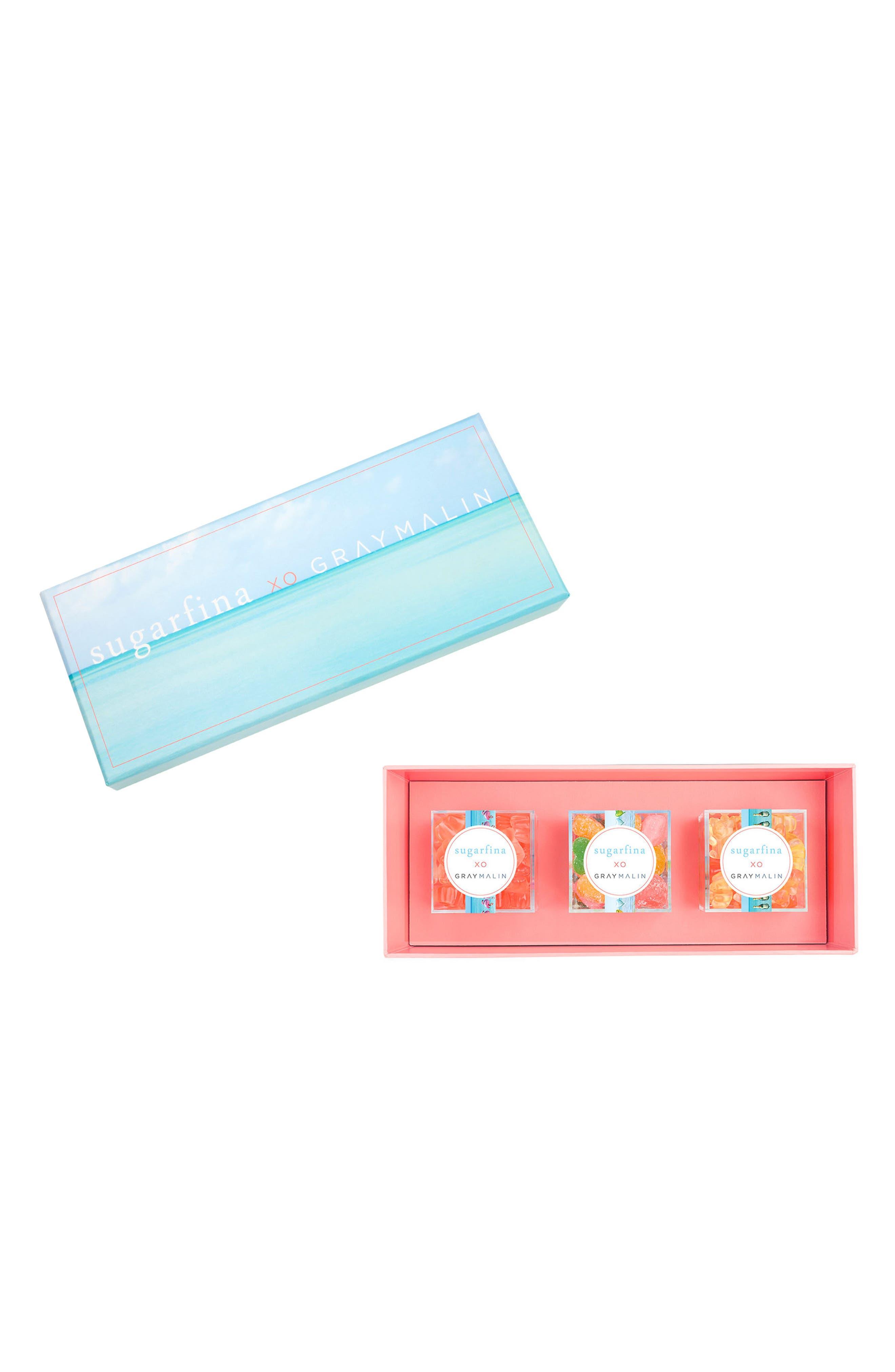 x Gray Malin 3-Piece Candy Bento Box,                         Main,                         color, Blue