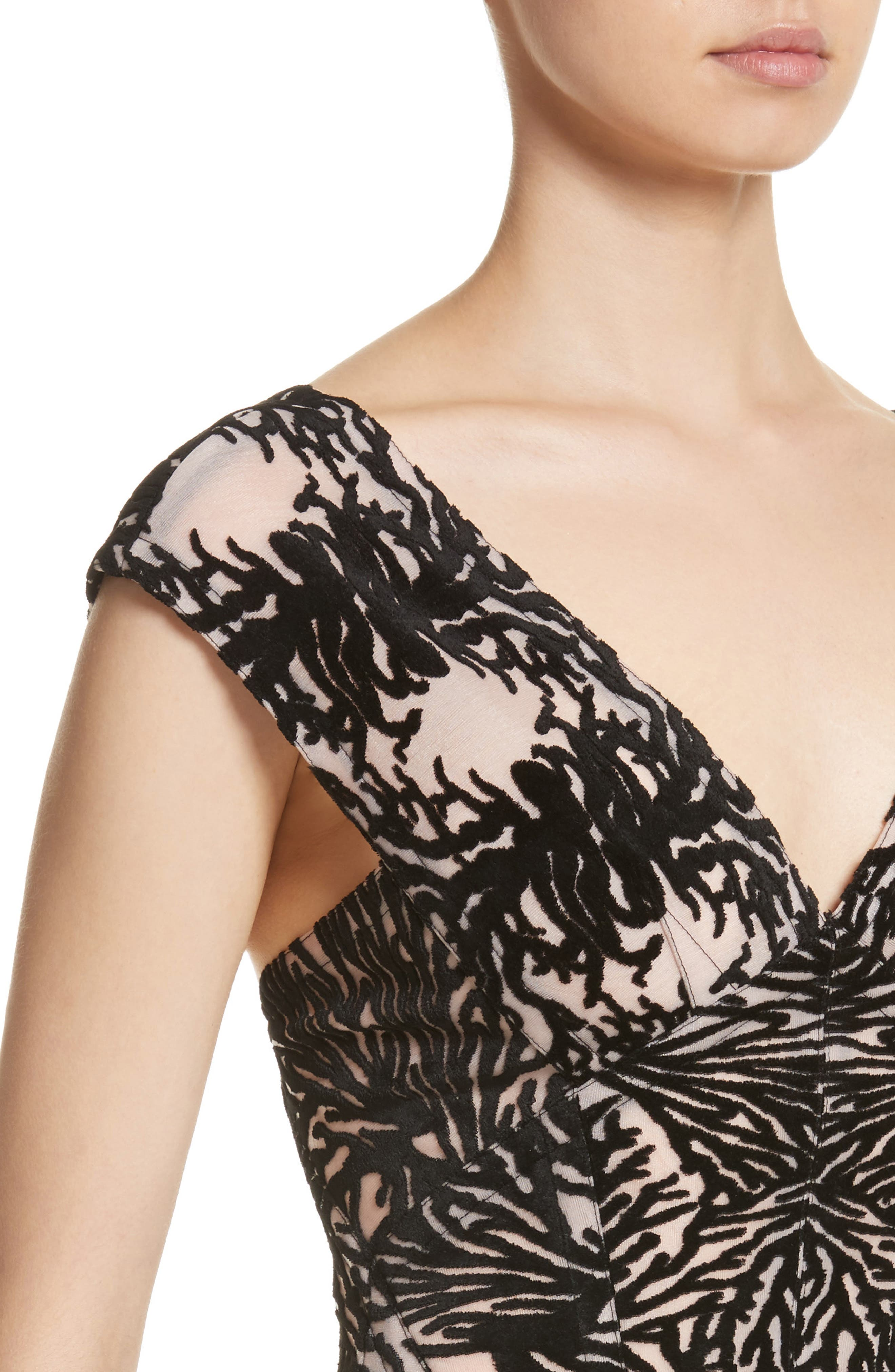 Alternate Image 4  - Yigal Azrouël Coral Reef Burnout Off the Shoulder Top