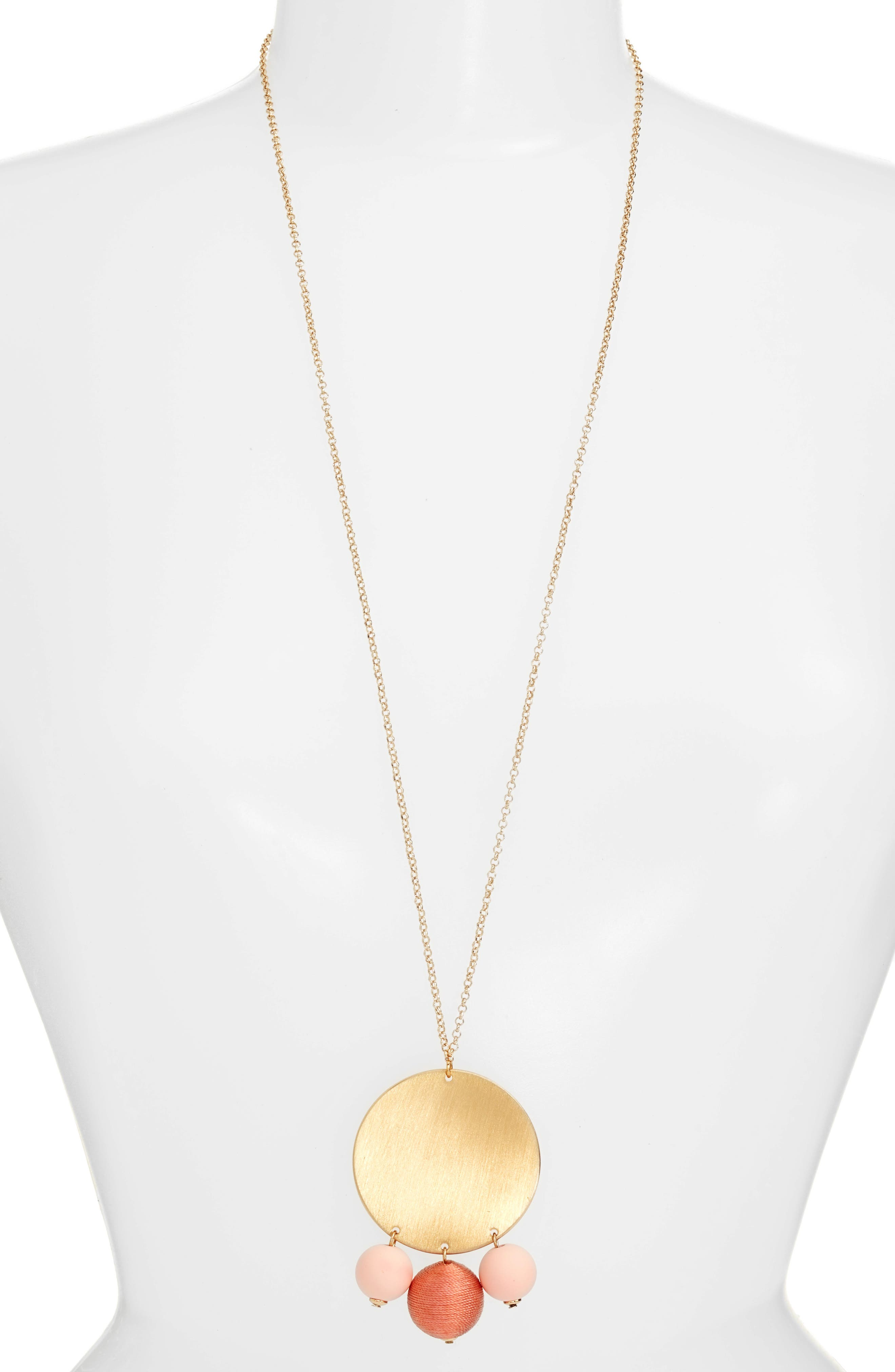 Alternate Image 1 Selected - Rebecca Minkoff Threaded Disco Ball Statement Necklace