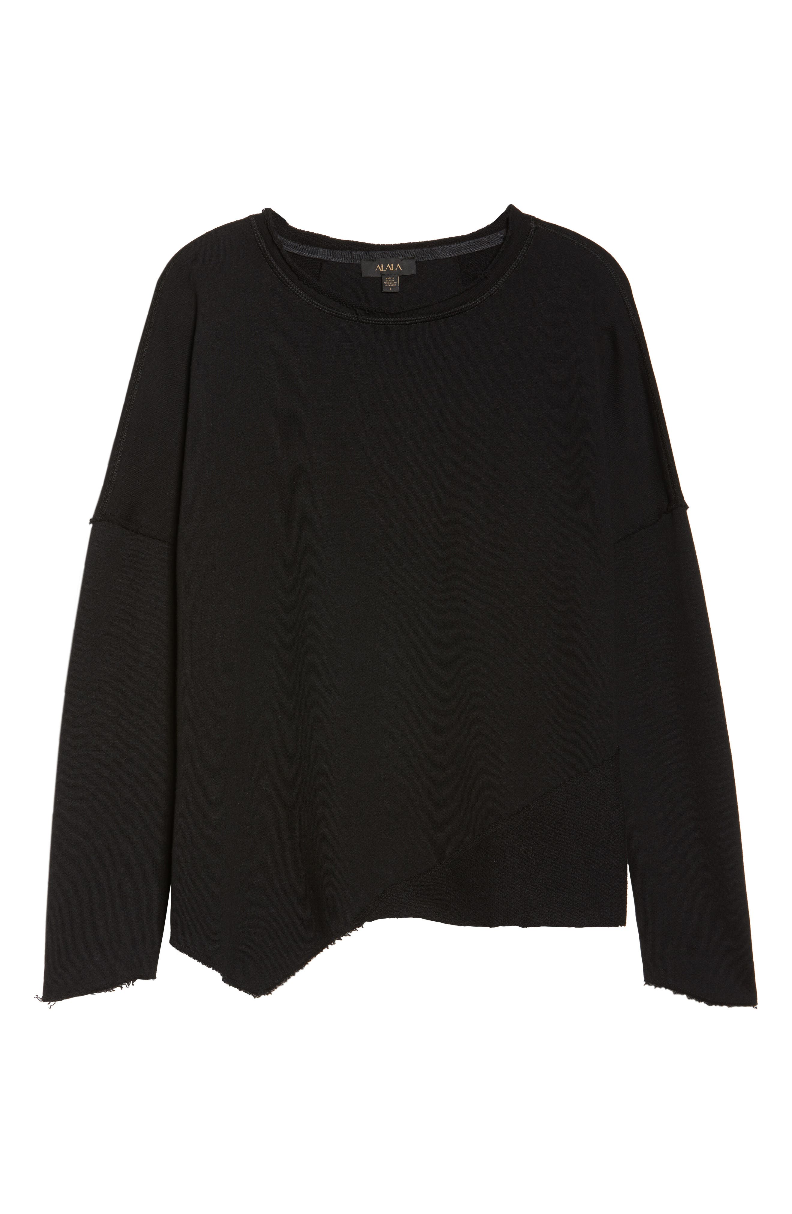 Exhale Sweatshirt,                             Alternate thumbnail 7, color,                             Black