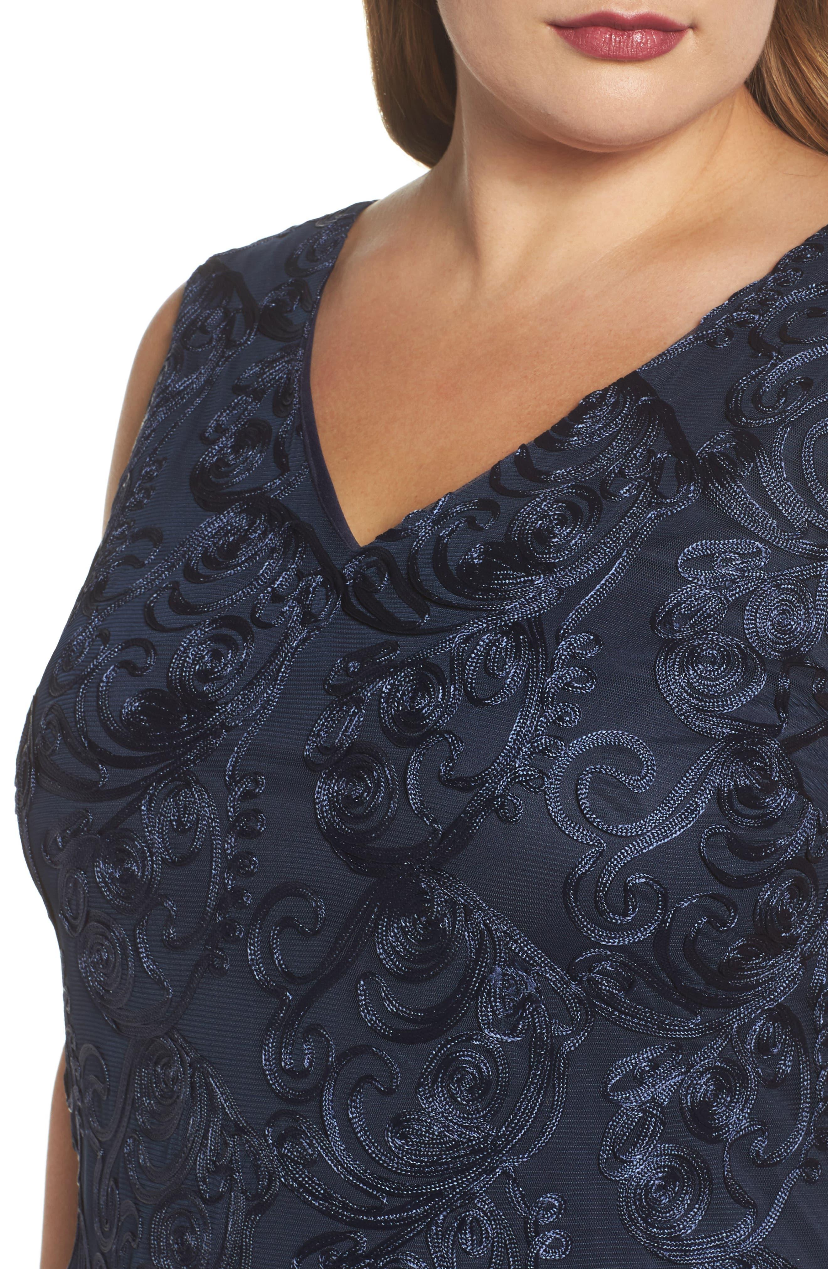 Alternate Image 4  - Marina Soutache Sheath Dress (Plus Size)