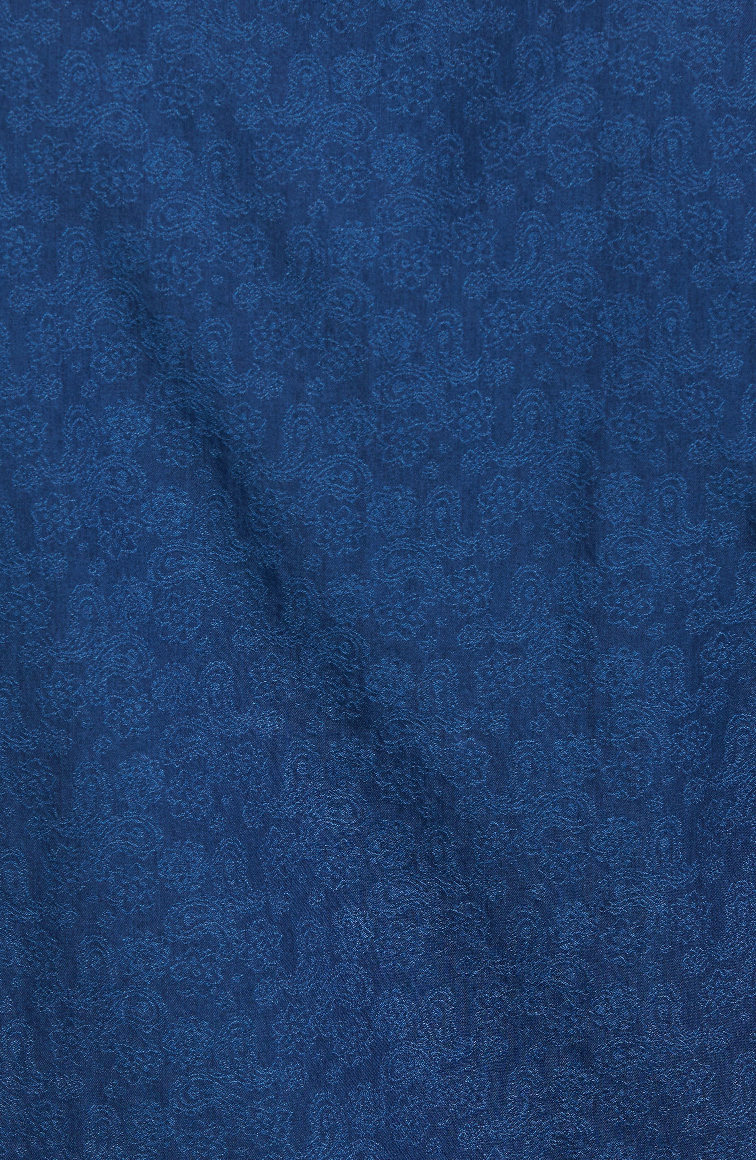 Paisley Sport Shirt,                             Alternate thumbnail 5, color,                             Navy